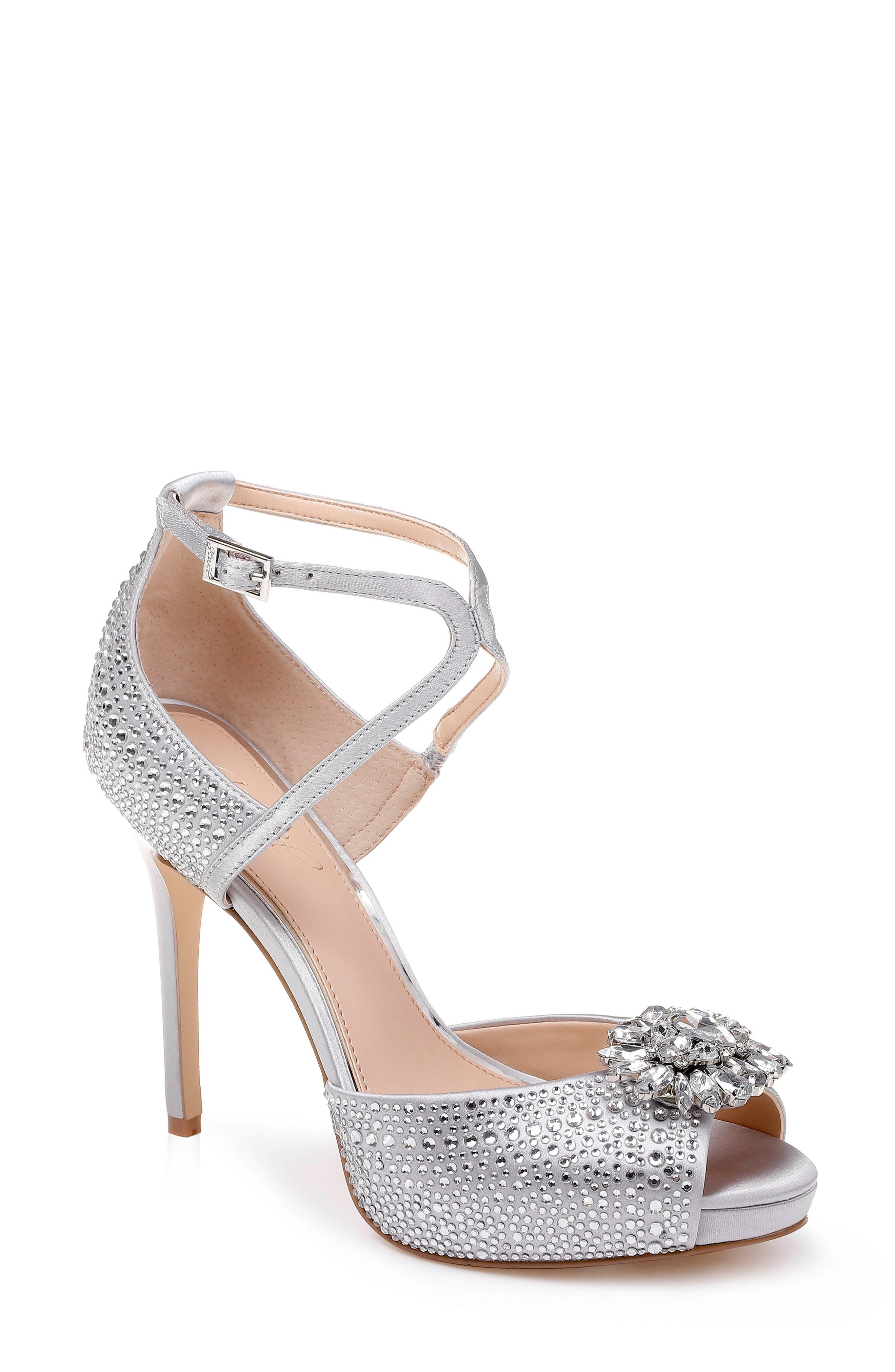 Jewel Badgley Mischka Zaina Platform Sandal- Metallic