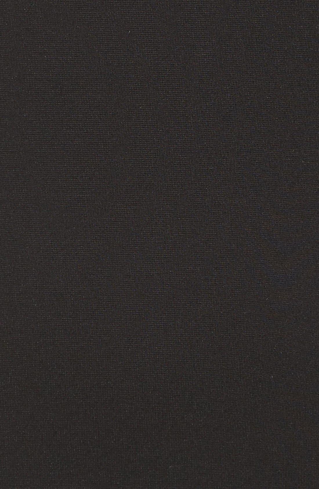 FELICITY & COCO, Shoulder Detail Ponte Sheath Dress, Alternate thumbnail 3, color, 001