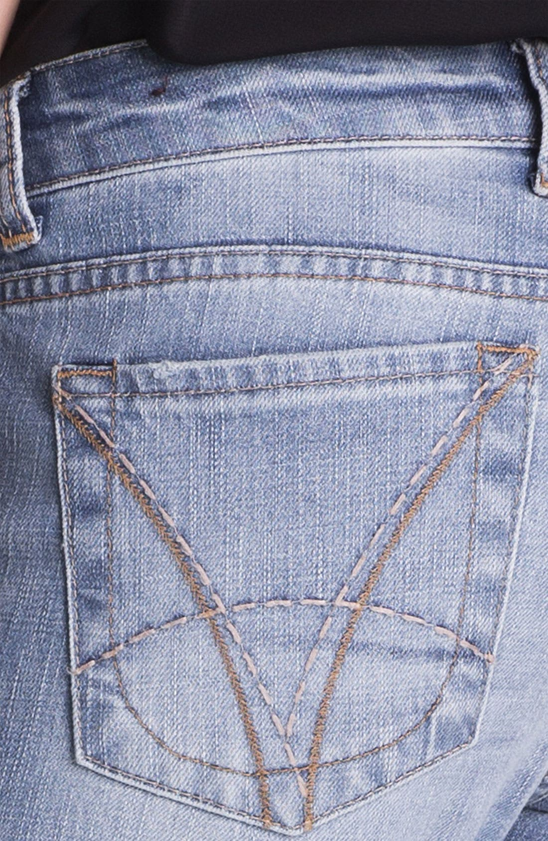 KUT FROM THE KLOTH, 'Catherine' Distressed Slim Boyfriend Jeans, Alternate thumbnail 3, color, 400