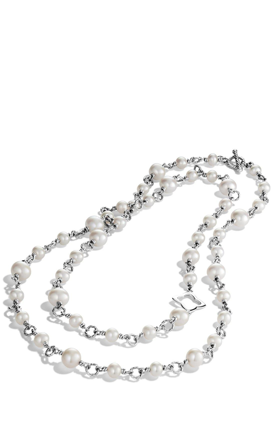 DAVID YURMAN, Pearl Chain Necklace, Alternate thumbnail 3, color, PEARL