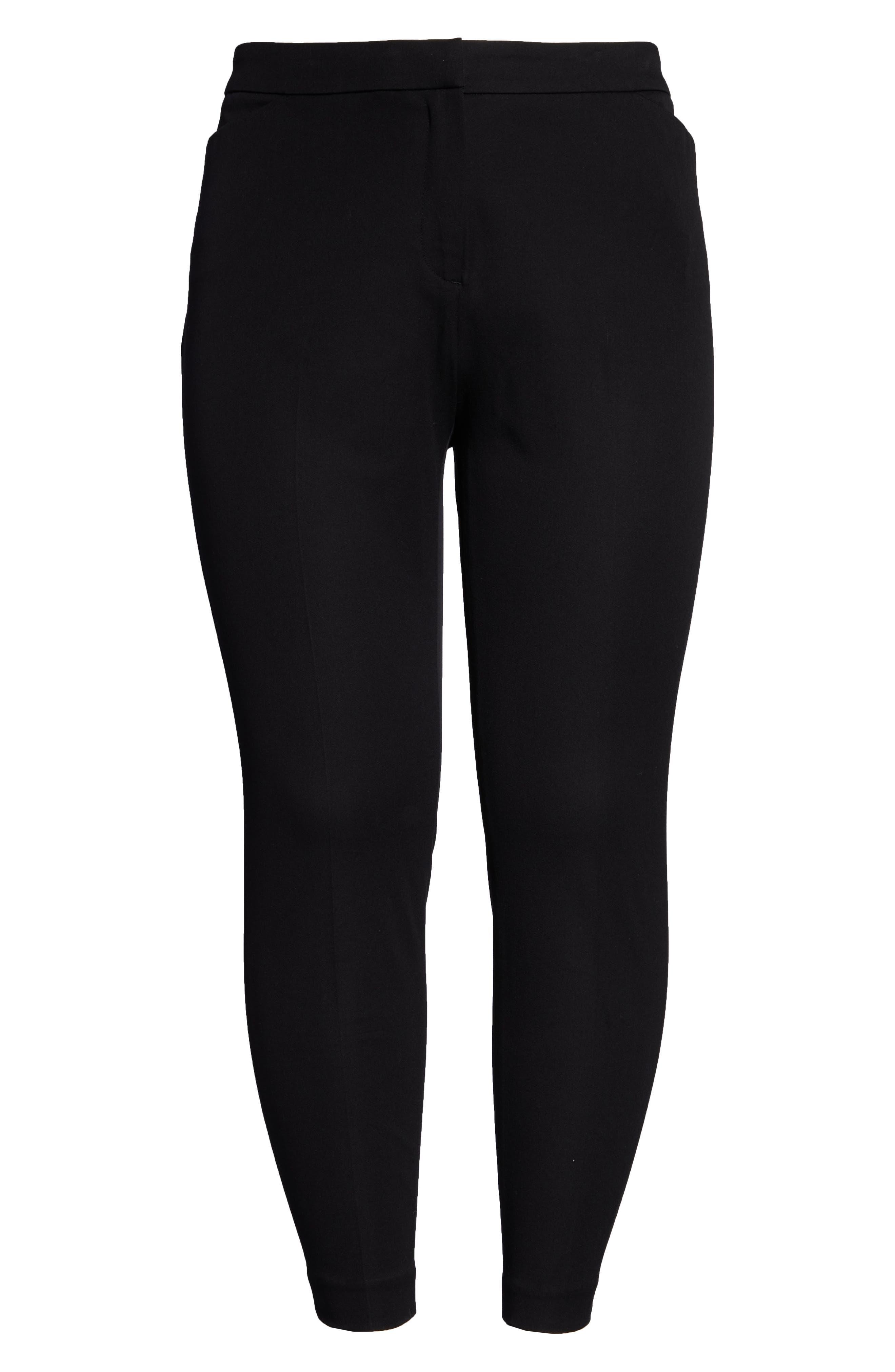 HALOGEN<SUP>®</SUP>, Ankle Pants, Alternate thumbnail 7, color, BLACK