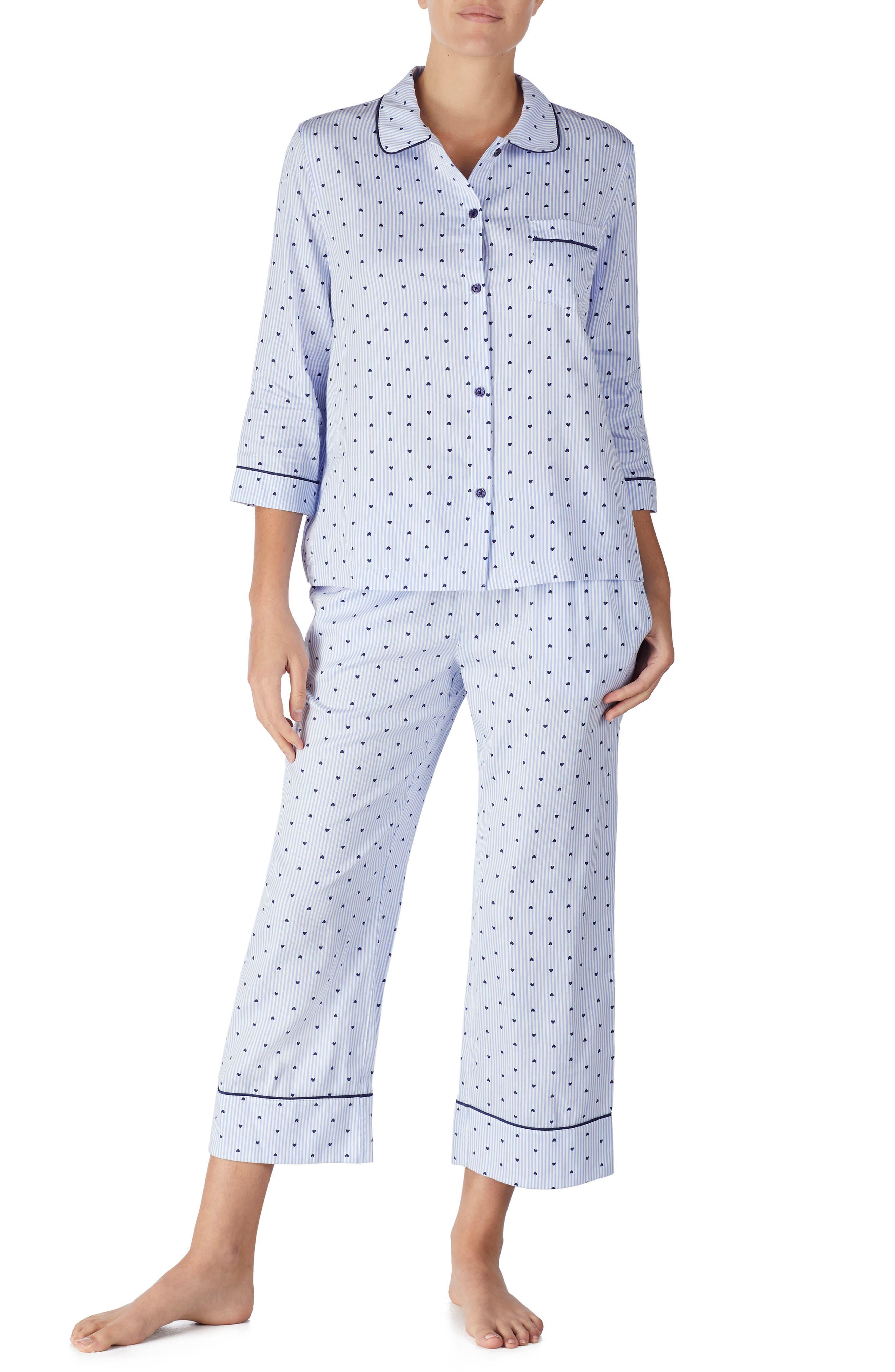 KATE SPADE NEW YORK print pajamas, Main, color, MINI HEART