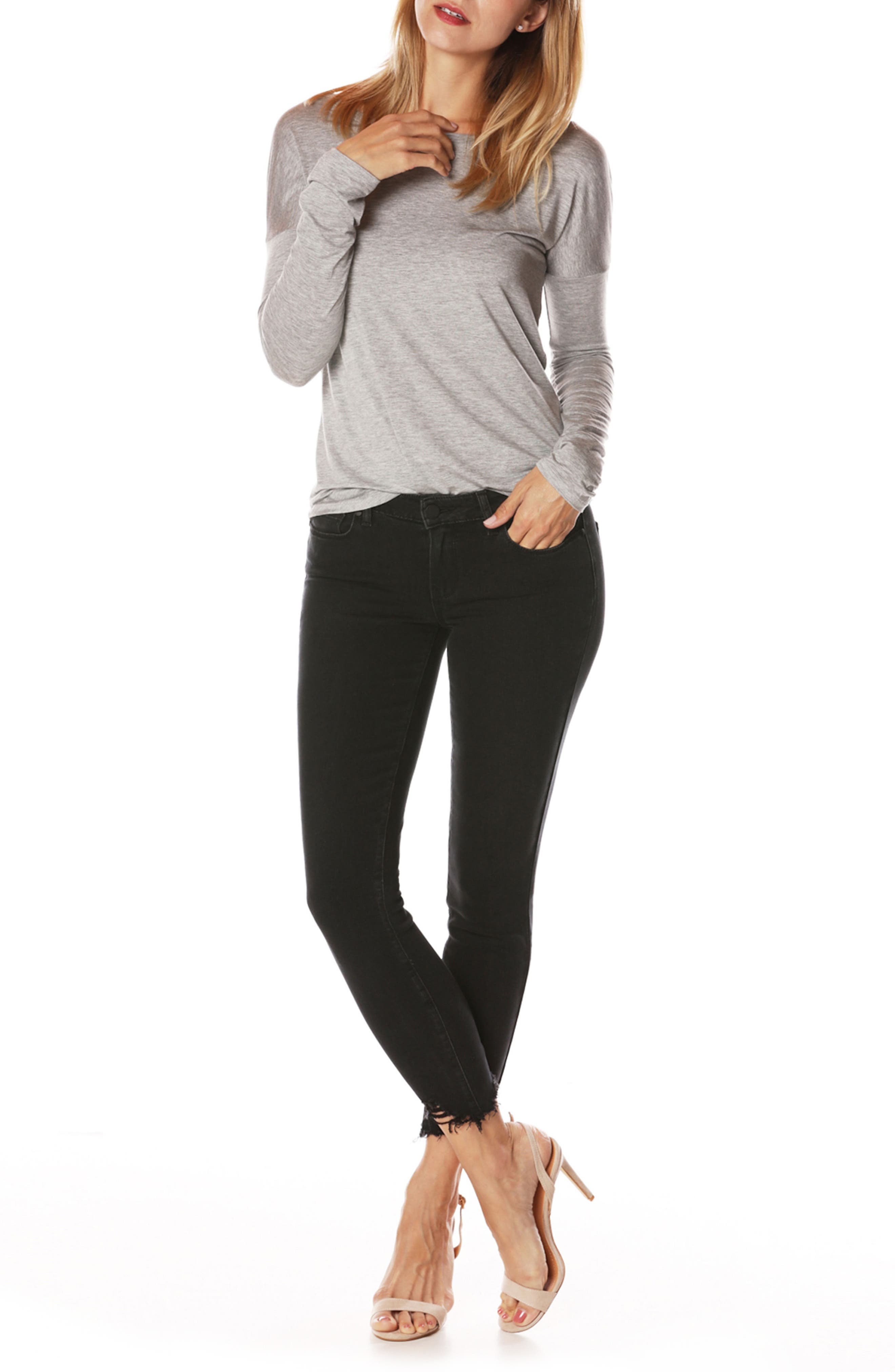 PAIGE, Transcend - Verdugo Ankle Skinny Jeans, Alternate thumbnail 8, color, 001