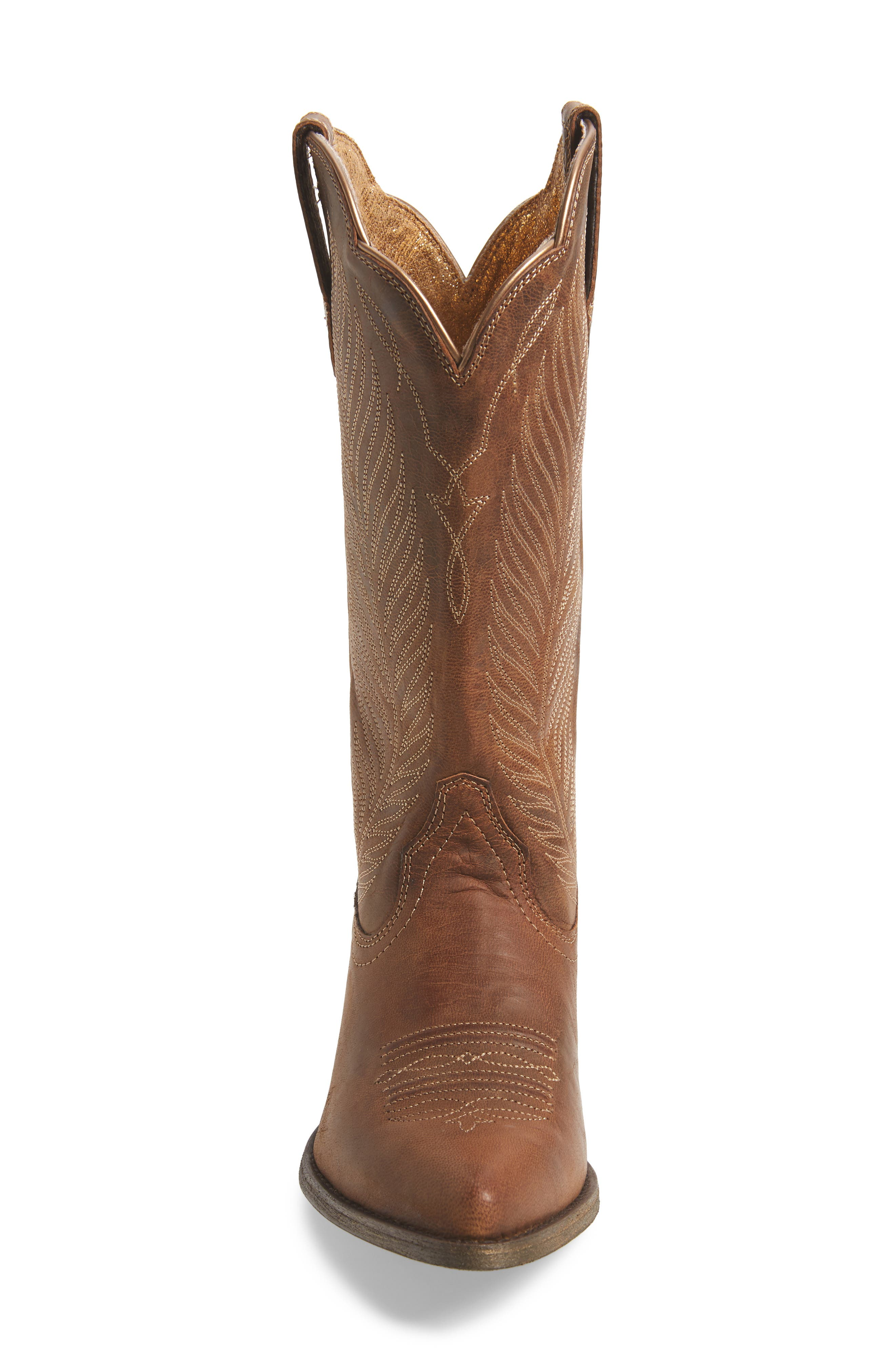 ARIAT, Round-Up Johanna Western Boot, Alternate thumbnail 4, color, PEARL LEATHER
