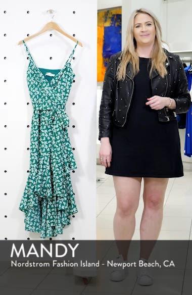 Floral High/Low Faux Wrap Dress, sales video thumbnail