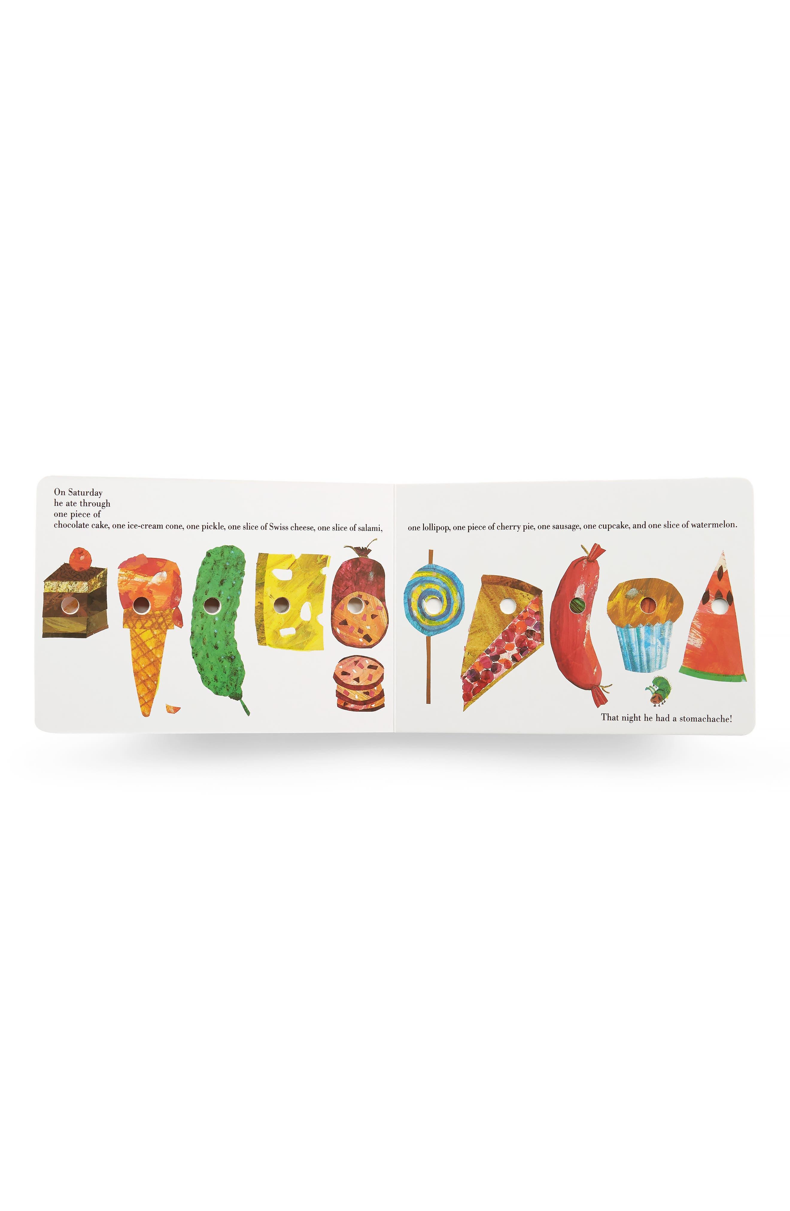 PENGUIN RANDOM HOUSE, 'The Very Hungry Caterpillar' Board Book & Stuffed Animal Set, Alternate thumbnail 2, color, WHITE