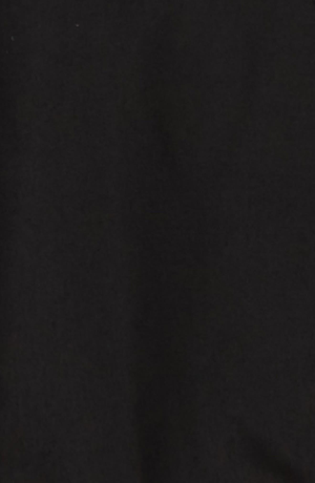 MOOSE KNUCKLES, Bomber Jacket with Genuine Fox Fur Trim, Alternate thumbnail 2, color, BLACK