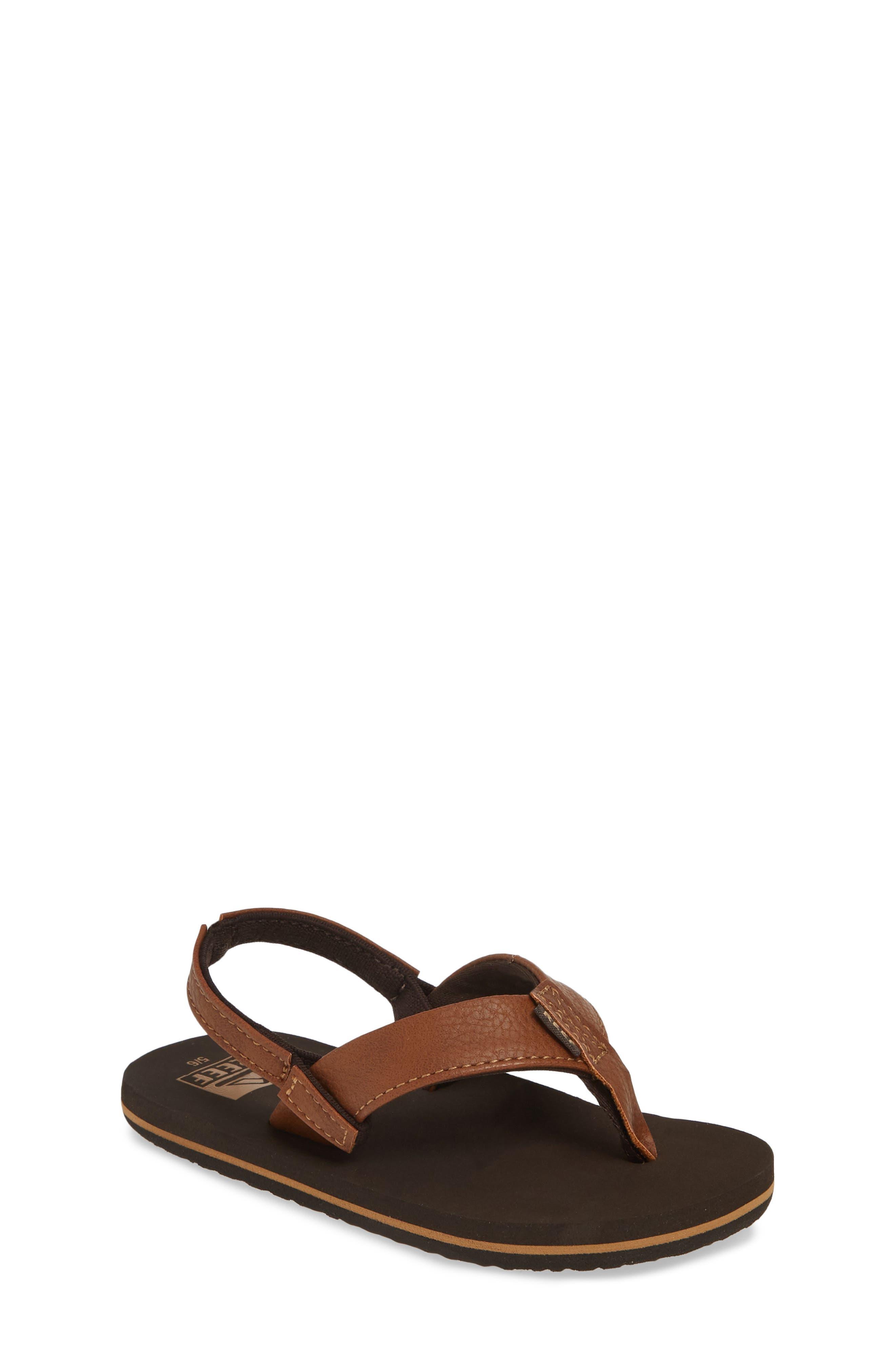 REEF Twinpin Thong Sandal, Main, color, BROWN
