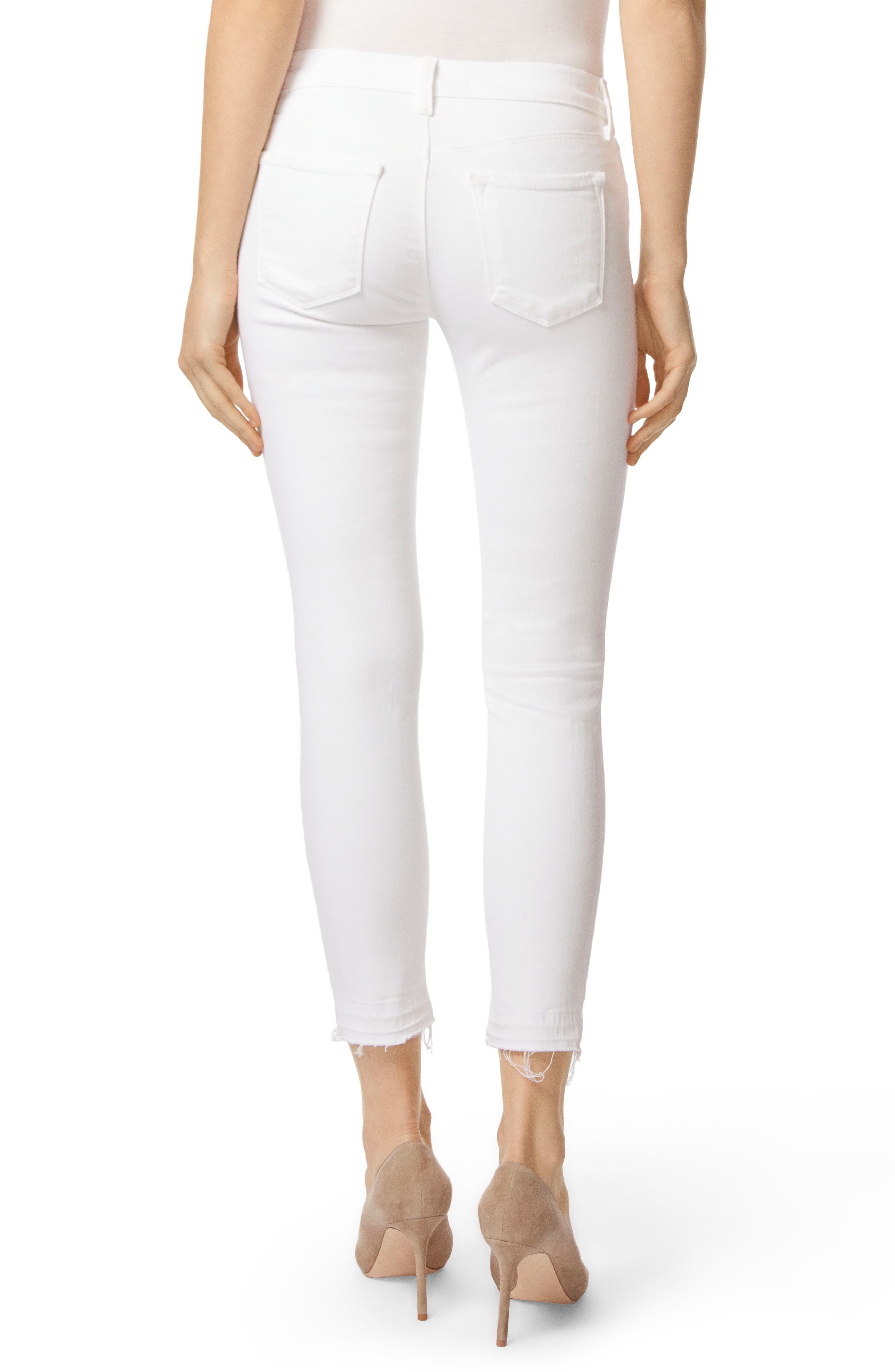 J BRAND, 9326 Low Rise Crop Skinny Jeans, Alternate thumbnail 2, color, DEMENTED WHITE DESTRUCTED