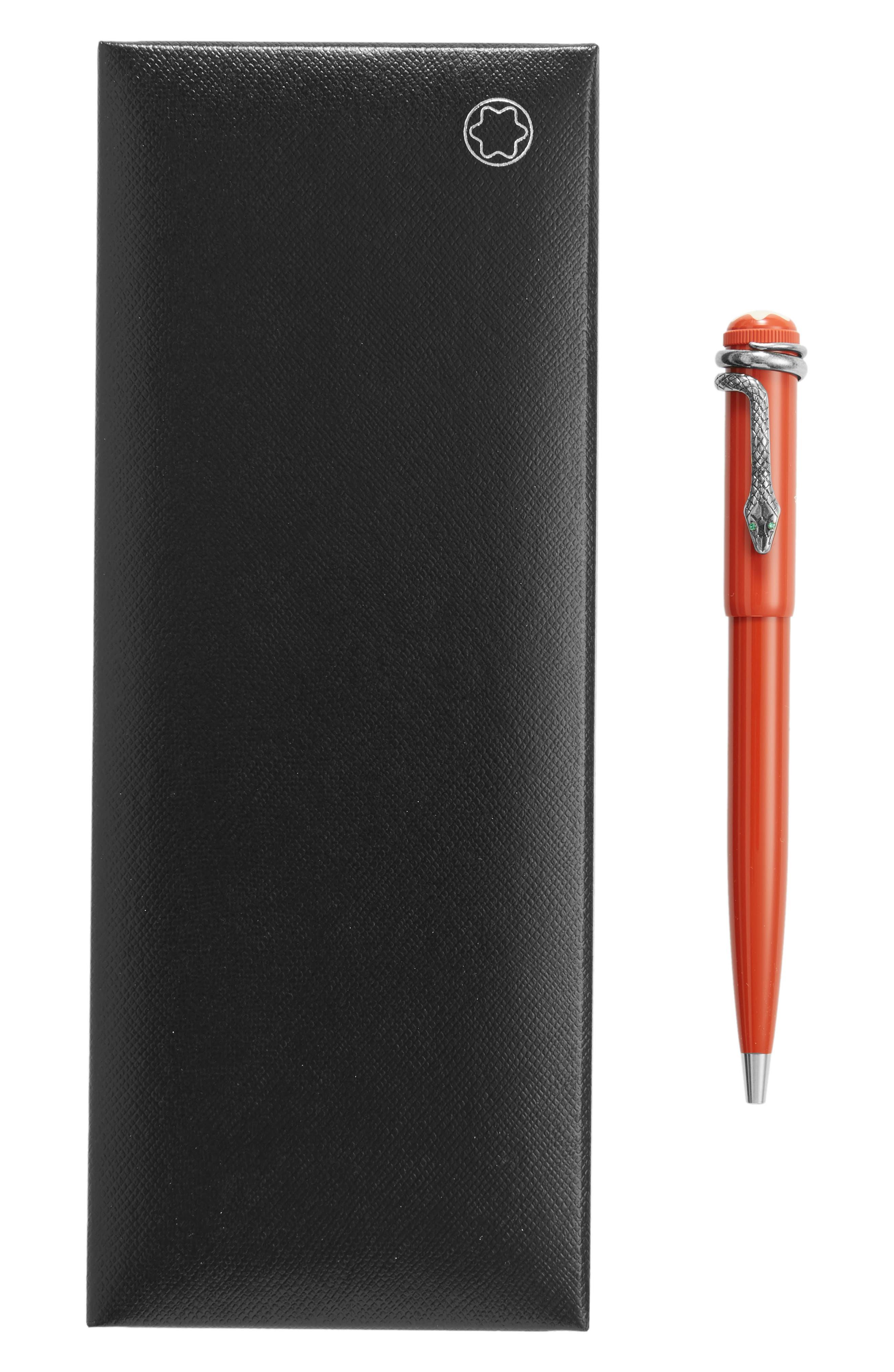 MONTBLANC, Heritage Collection Rouge et Noir Special Edition Ballpoint Pen, Alternate thumbnail 2, color, BLACK