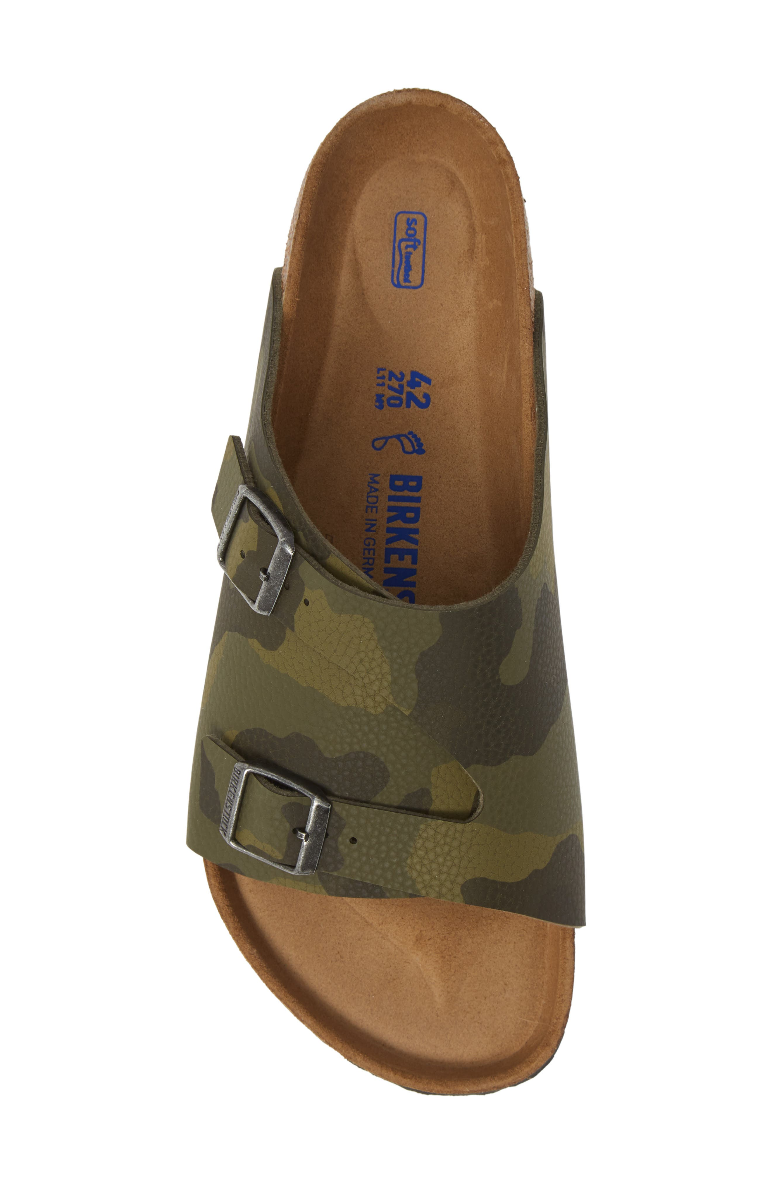 BIRKENSTOCK, Zurich Slide Sandal, Alternate thumbnail 5, color, DESERT CAMO GREEN