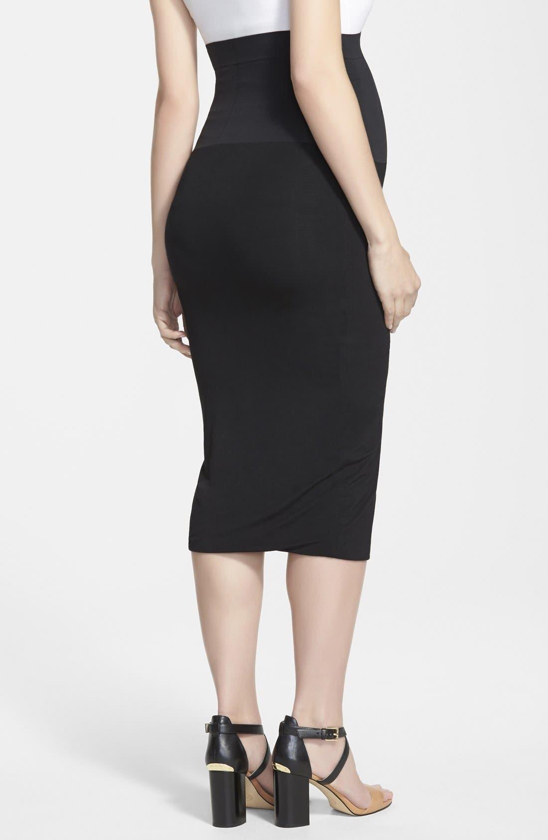 INGRID & ISABEL<SUP>®</SUP>, Midi Maternity Skirt, Alternate thumbnail 2, color, 001