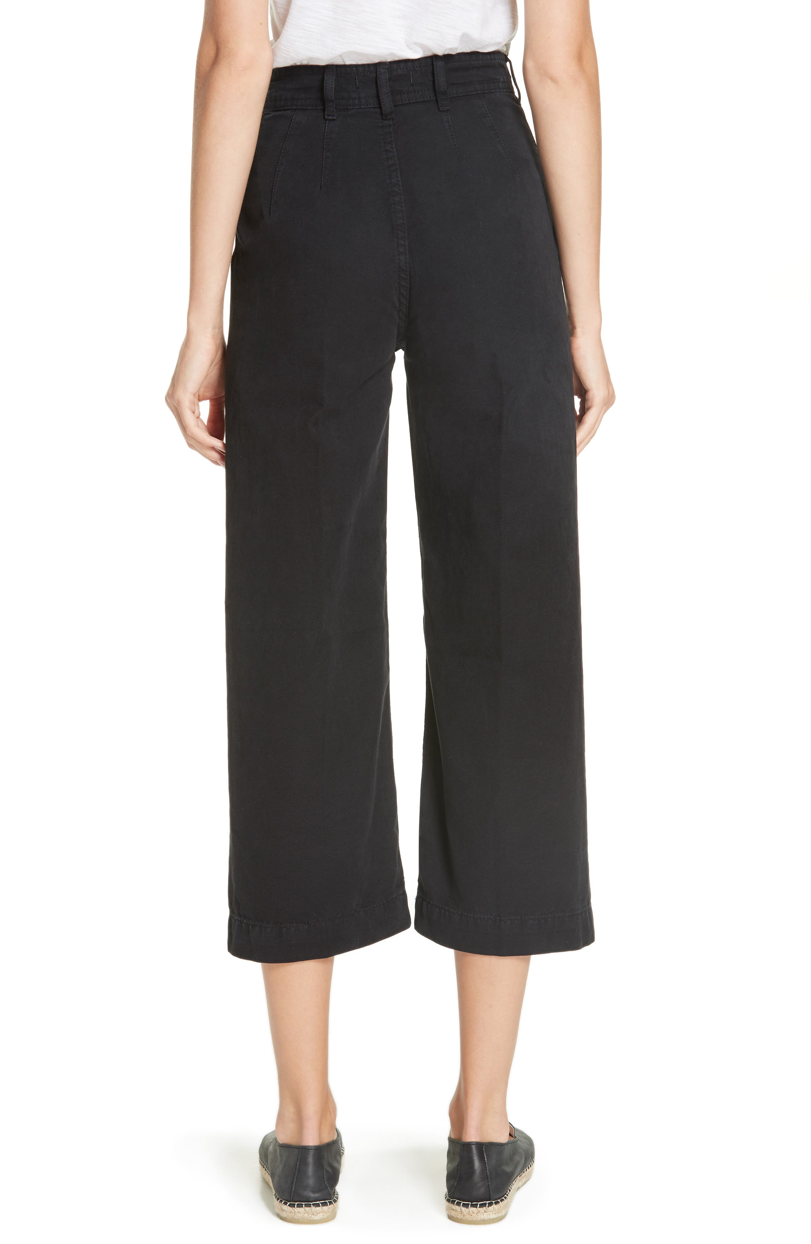 FREE PEOPLE, We the Free by Free People Patti Crop Cotton Pants, Alternate thumbnail 2, color, 001