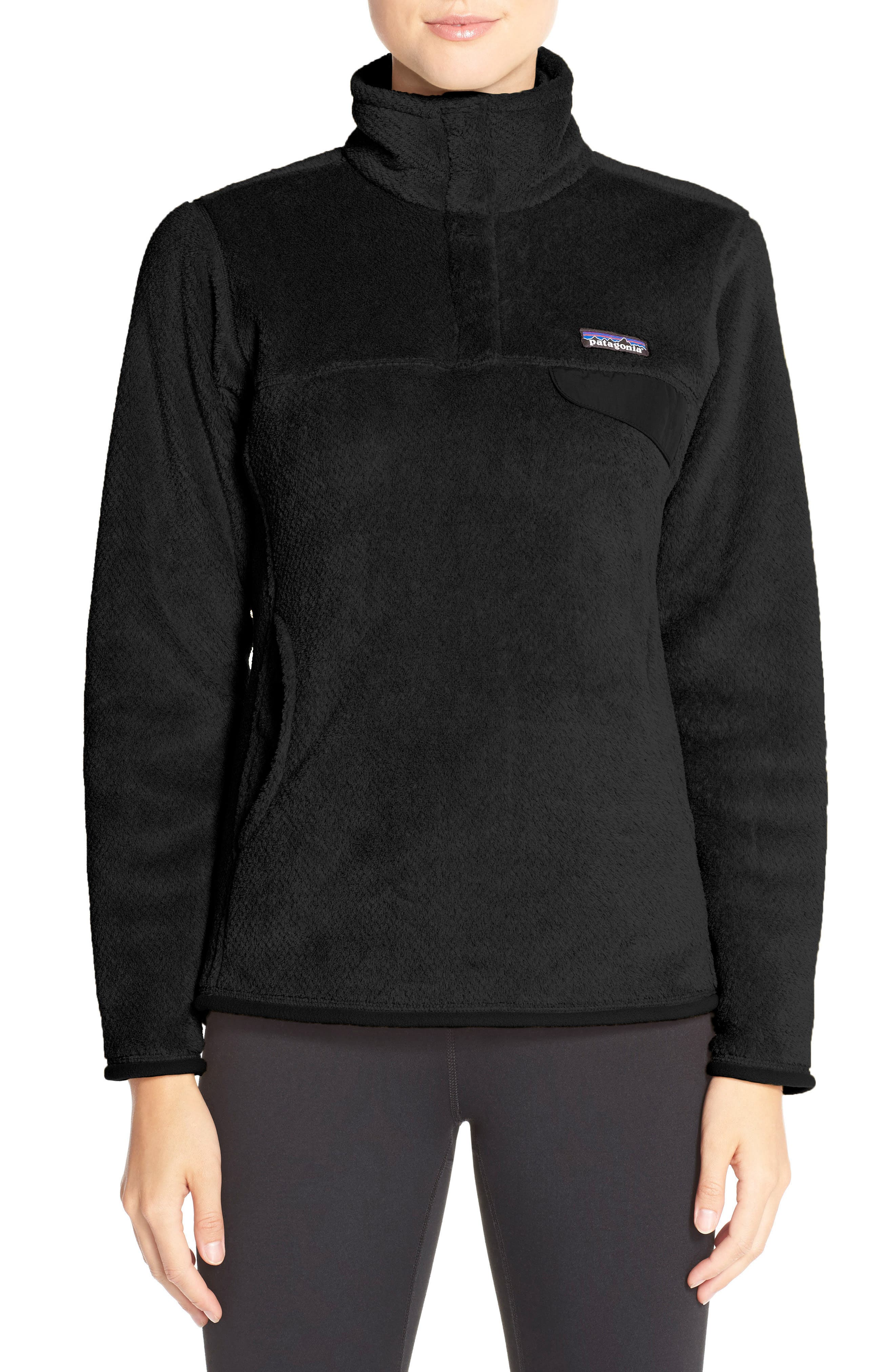 PATAGONIA, Re-Tool Snap-T<sup>®</sup> Fleece Pullover, Main thumbnail 1, color, 001