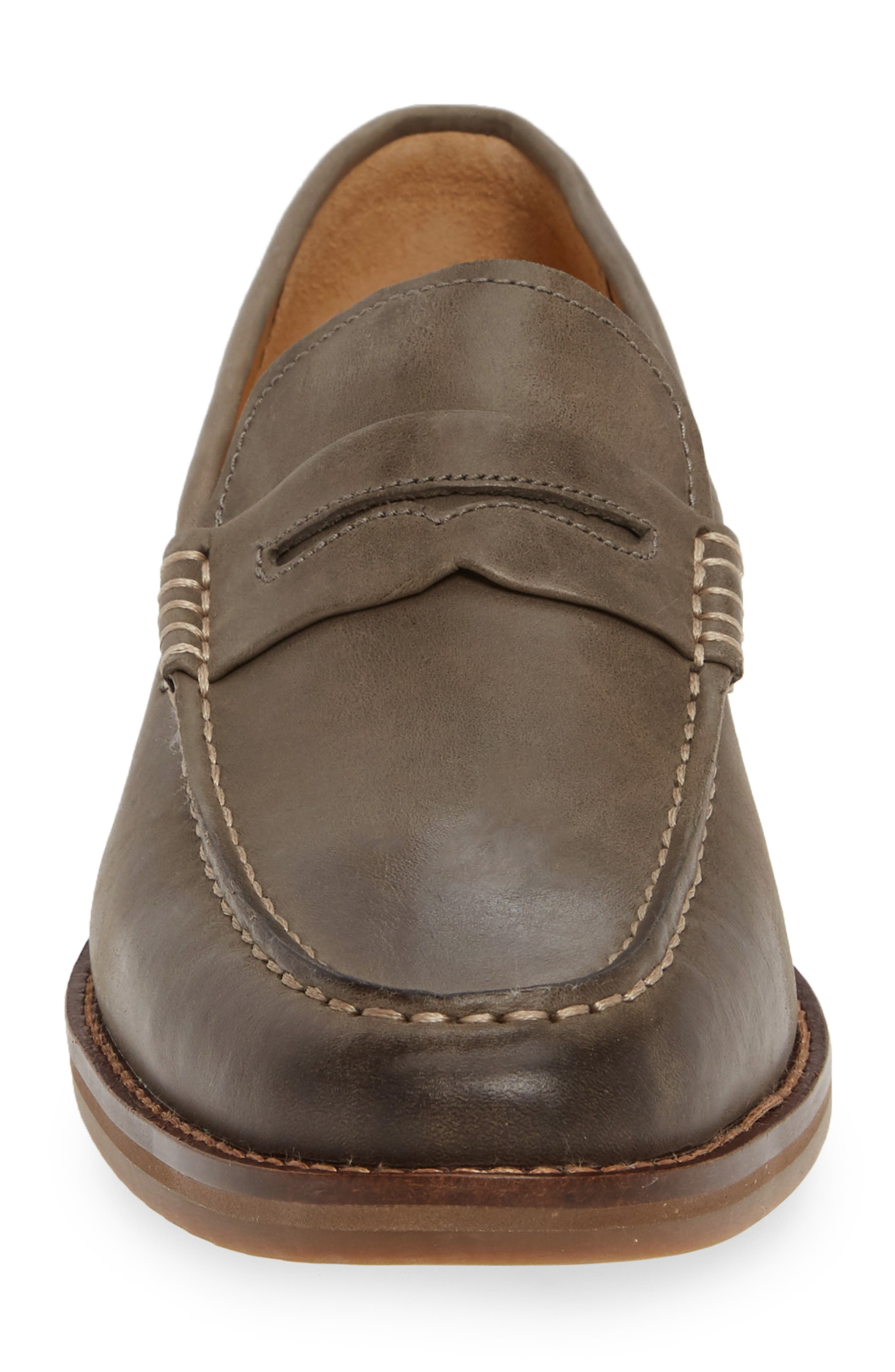 SPERRY, Exeter Penny Loafer, Alternate thumbnail 4, color, GREY