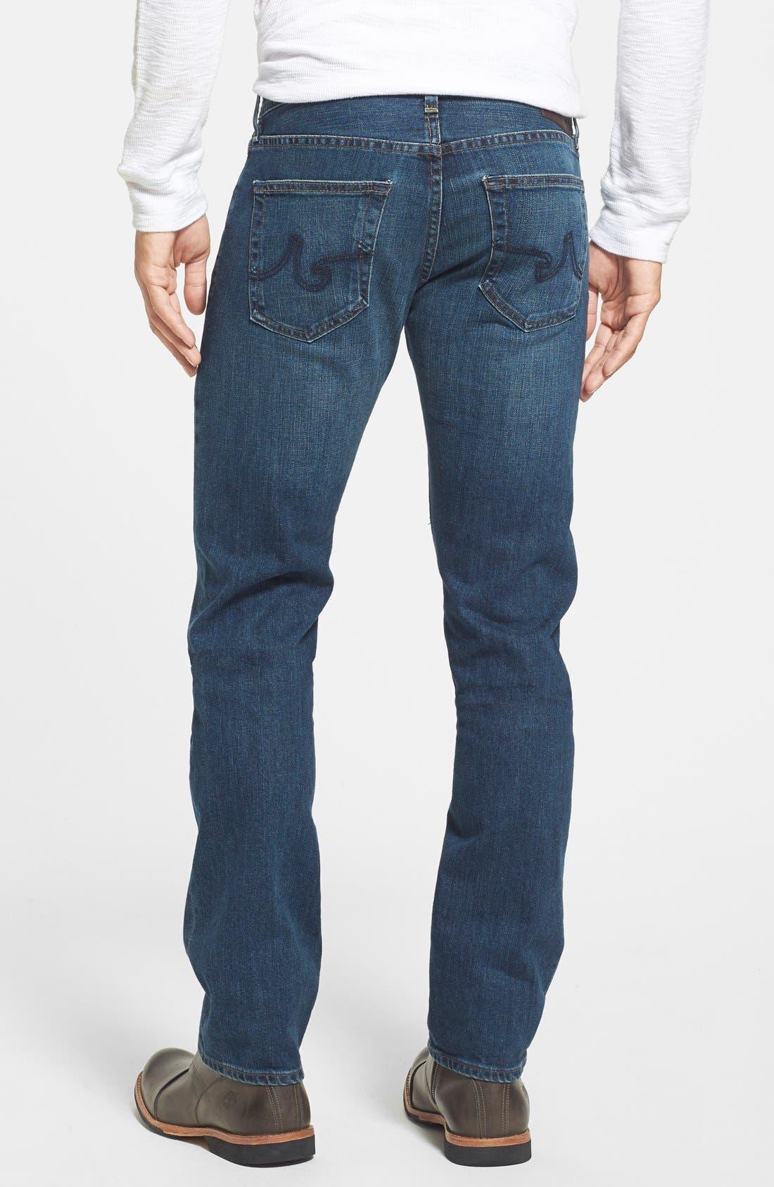 AG, 'Matchbox' Slim Fit Jeans, Alternate thumbnail 2, color, 400