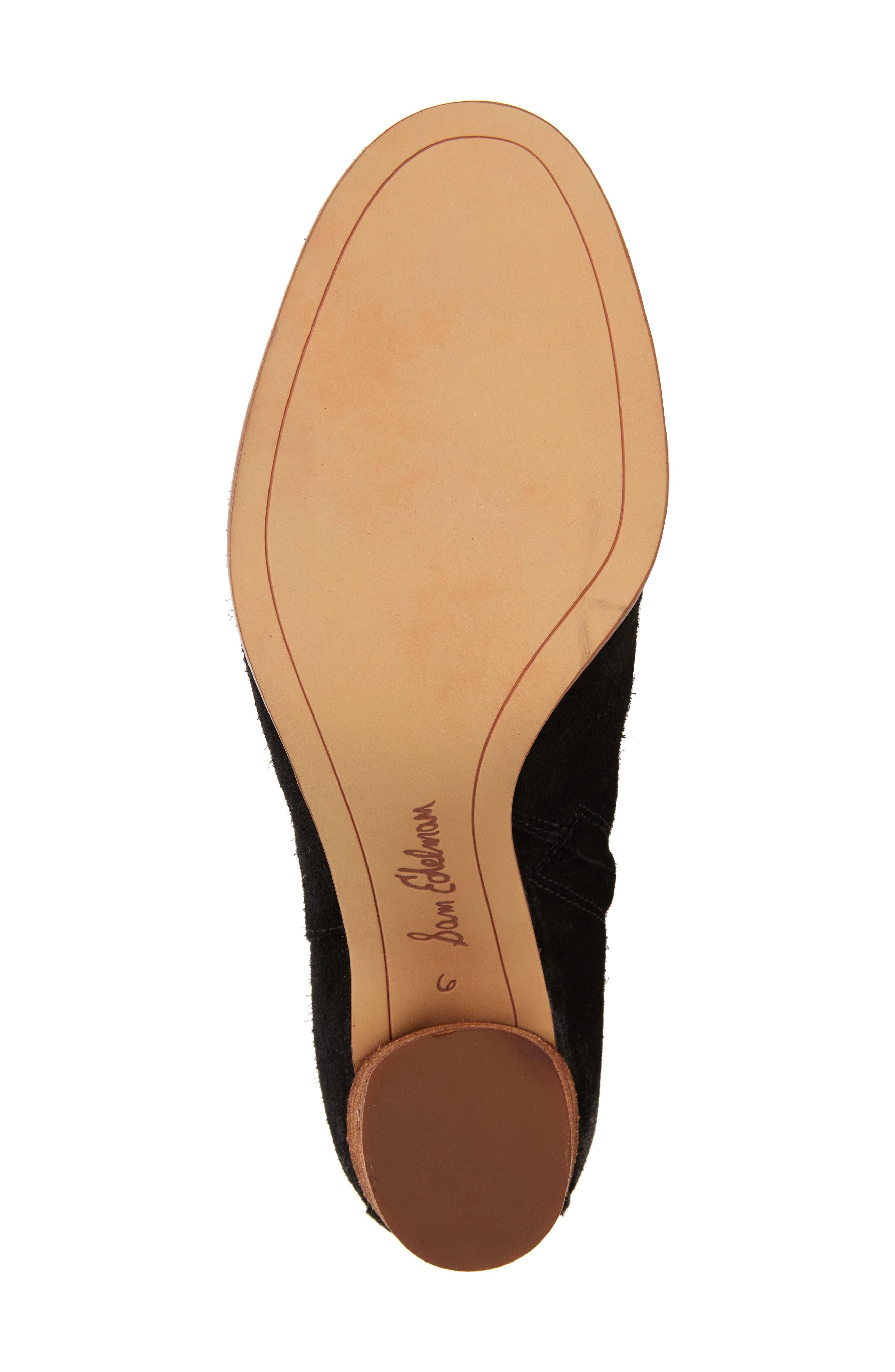 SAM EDELMAN, Camellia Tall Boot, Alternate thumbnail 6, color, 002