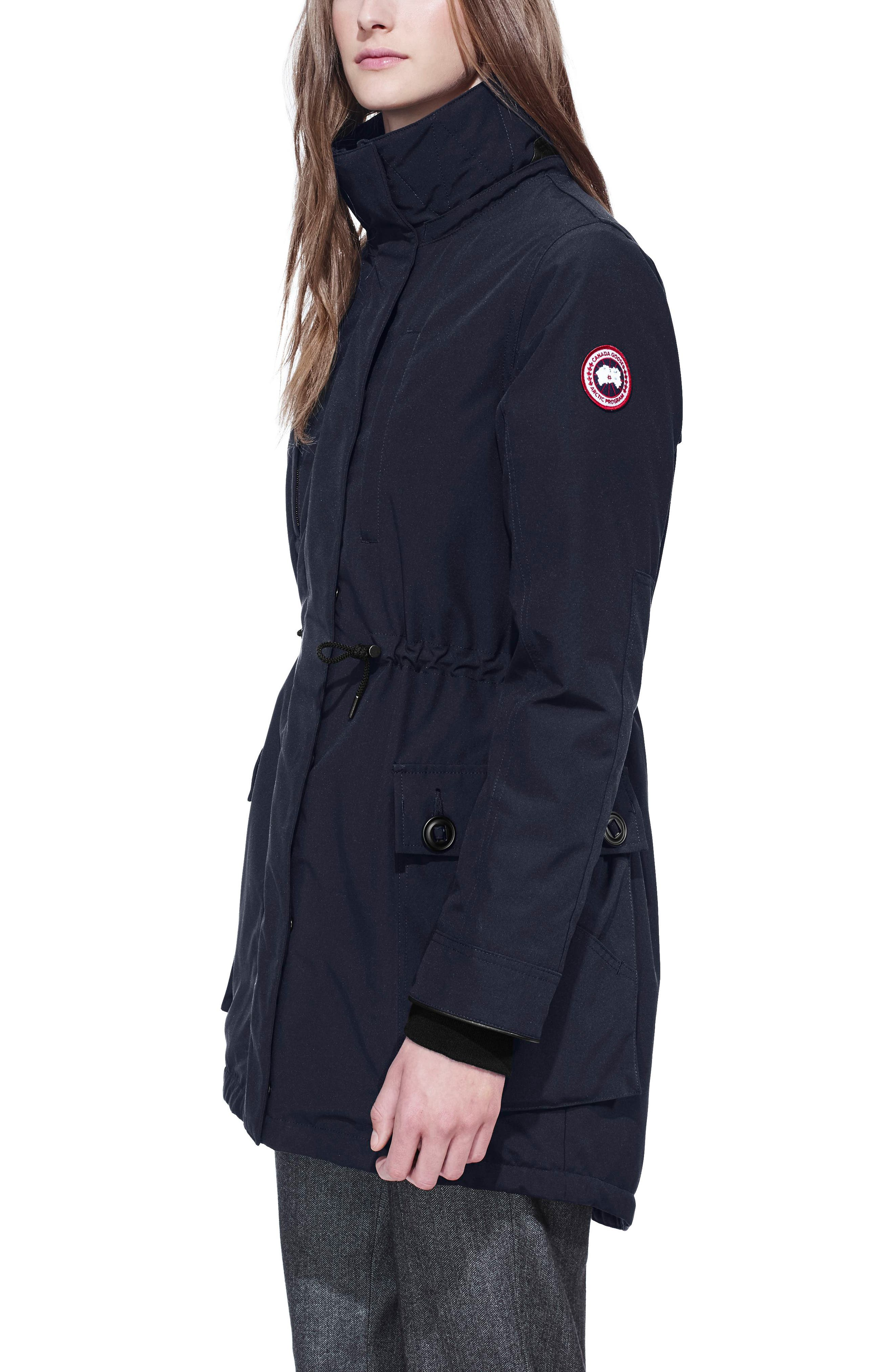 CANADA GOOSE, Perley Waterproof 675-Fill-Power Down 3-in-1 Parka, Alternate thumbnail 6, color, ADMIRAL BLUE