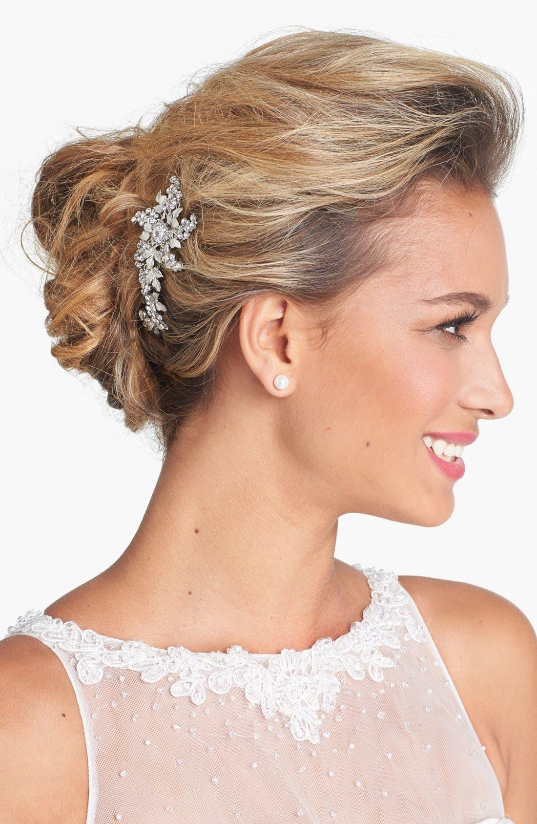 WEDDING BELLES NEW YORK 'Jacqueline' Hair Comb, Main, color, SILVER