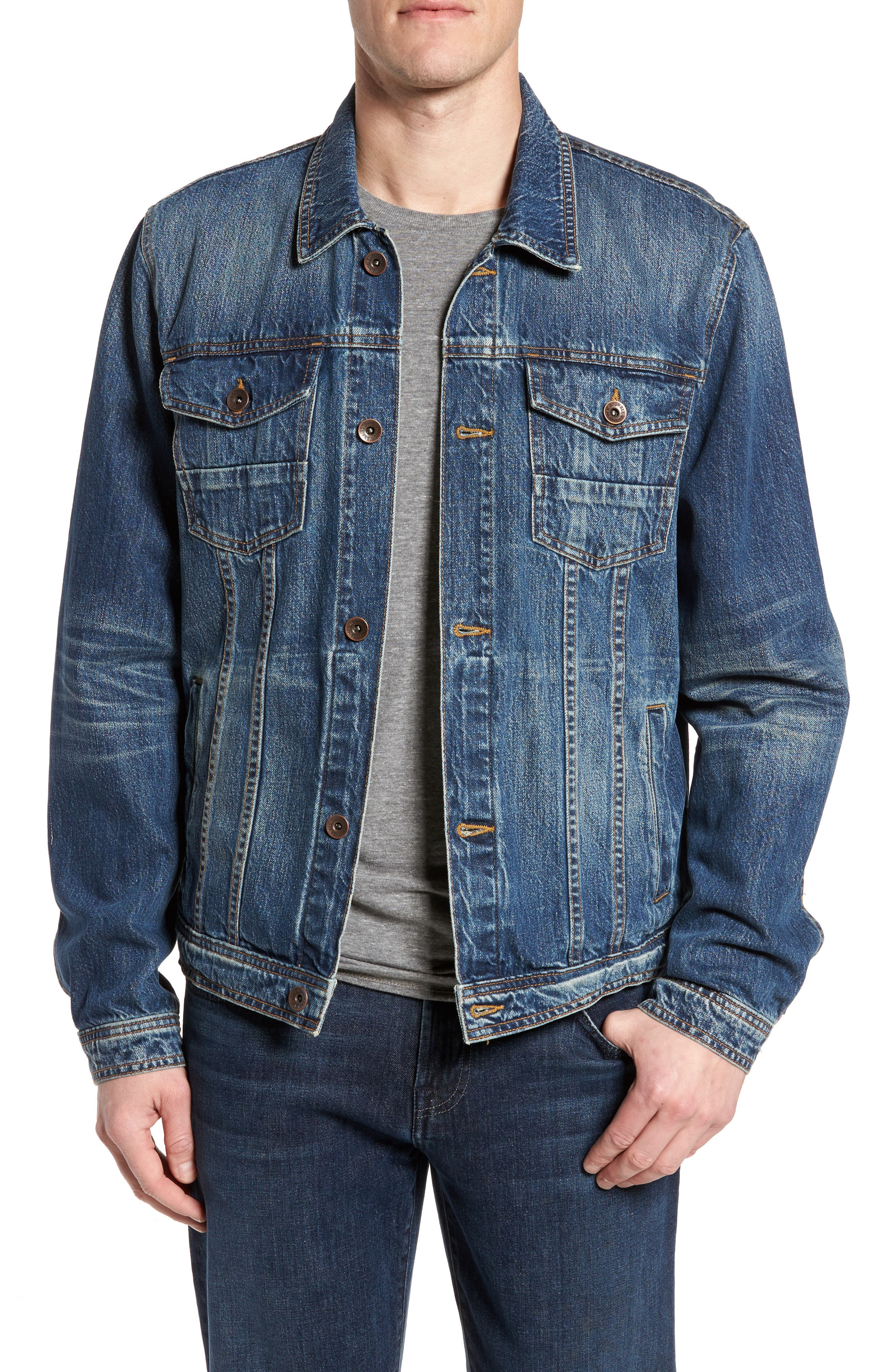 7 FOR ALL MANKIND<SUP>®</SUP>, Trucker Jacket, Main thumbnail 1, color, LEGEND