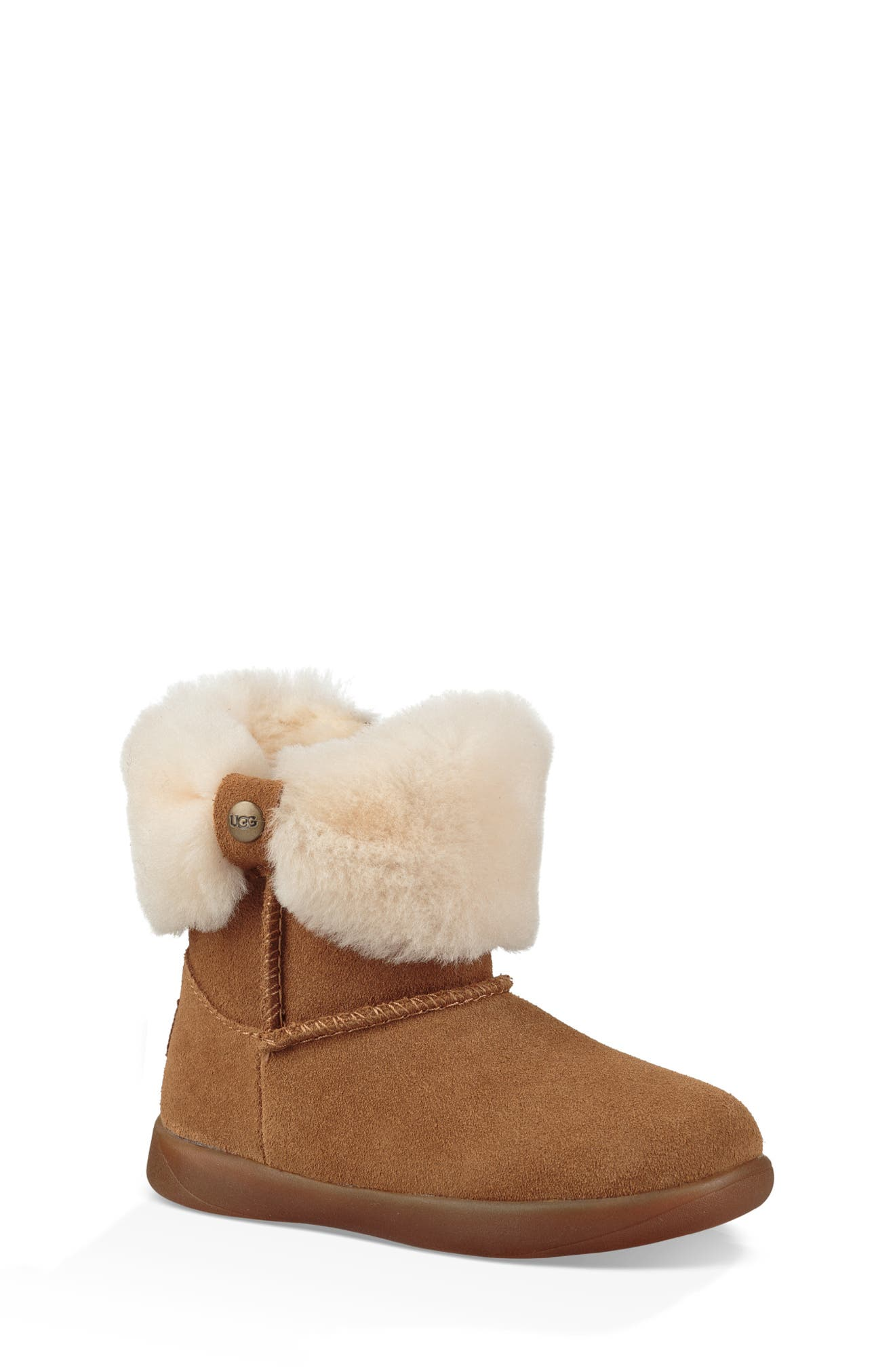 UGG<SUP>®</SUP>, Ramona Classic Short Boot, Main thumbnail 1, color, CHESTNUT