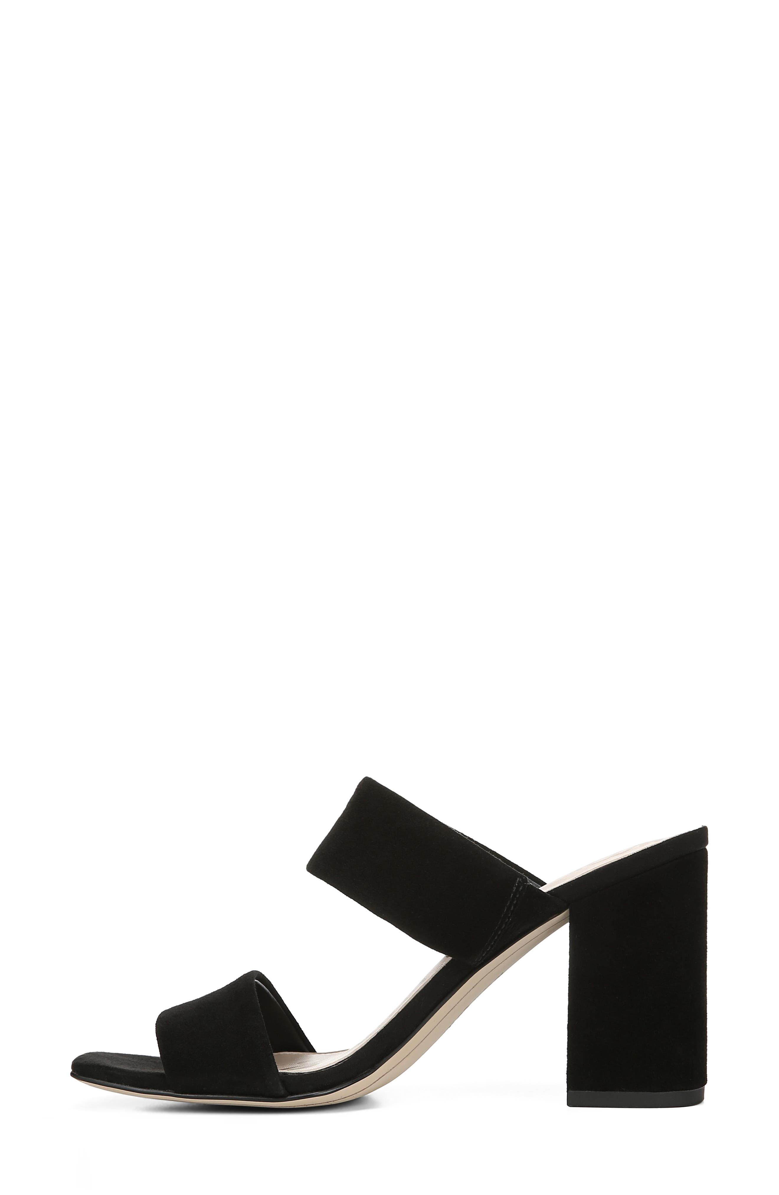 SAM EDELMAN, Delaney Sandal, Alternate thumbnail 7, color, BLACK SUEDE