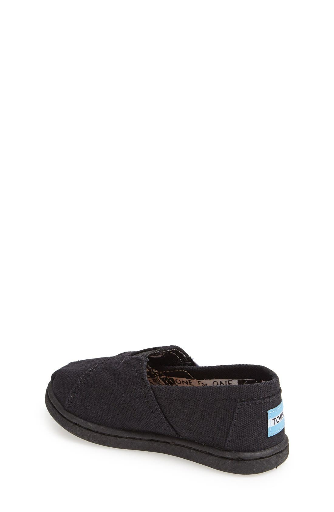 TOMS, 'Classic - Tiny' Slip-On, Alternate thumbnail 3, color, 001