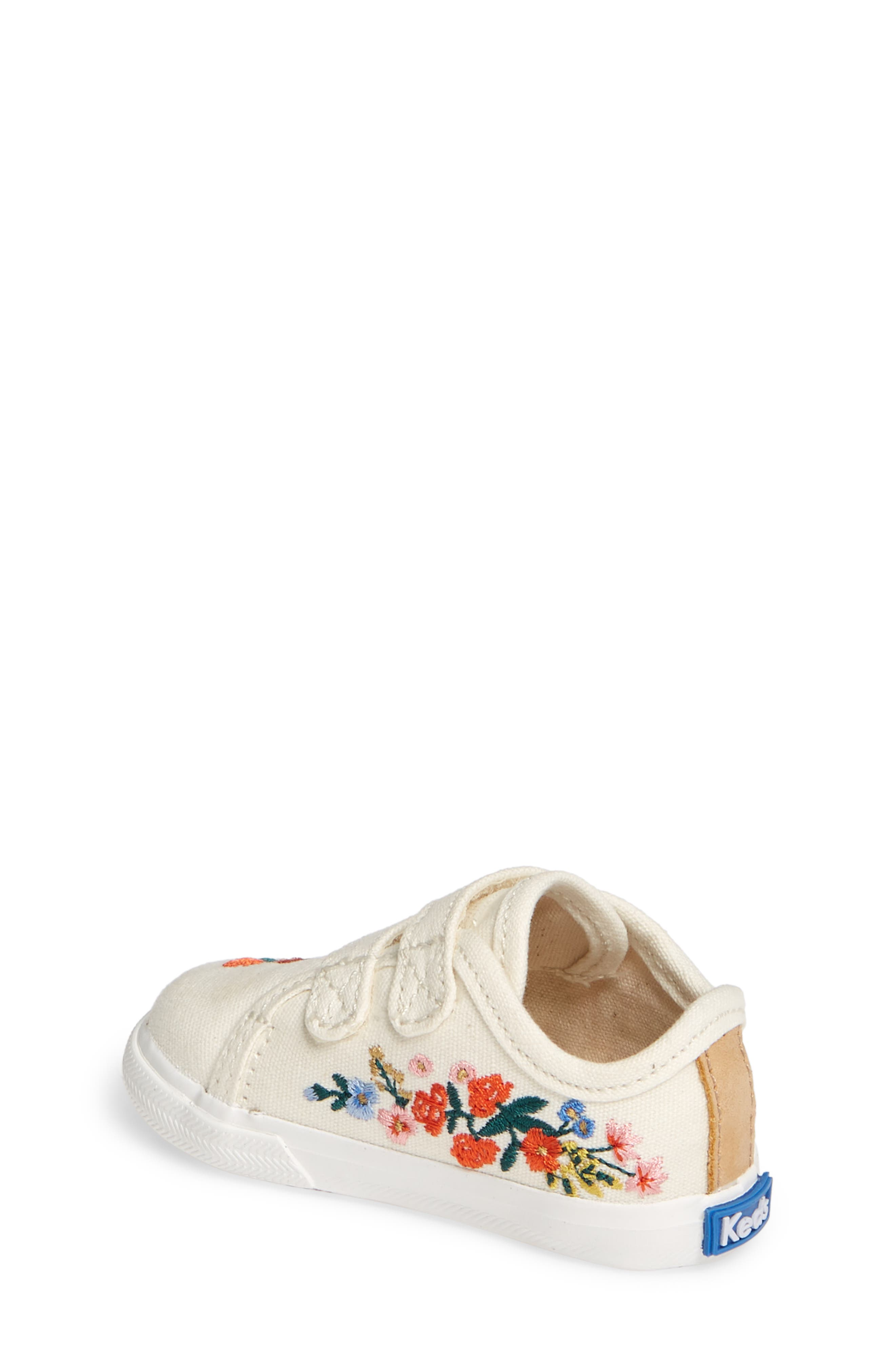 KEDS<SUP>®</SUP>, x Rifle Paper Co. Double Up Crib Shoe, Alternate thumbnail 2, color, VINES