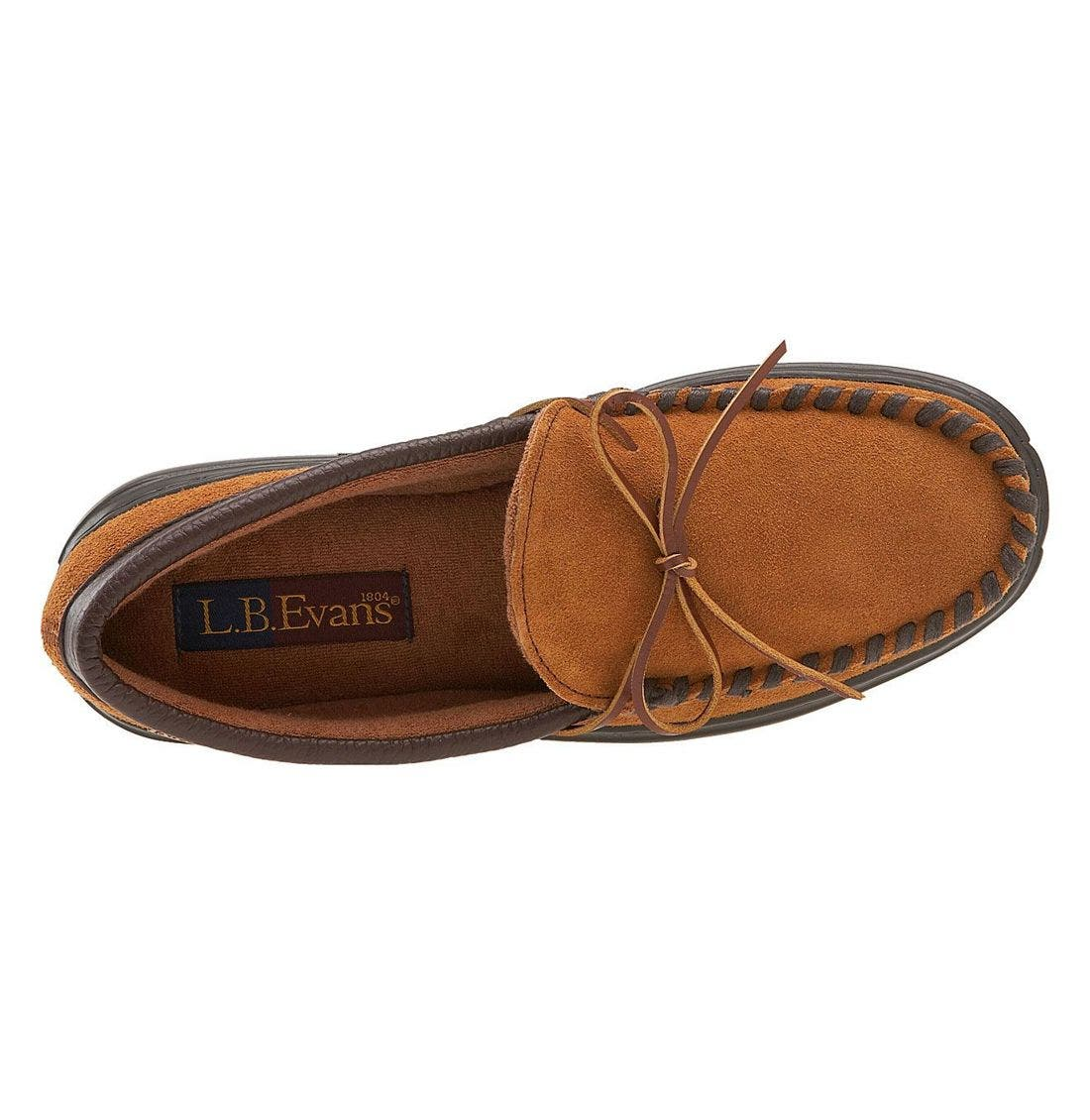 L.B. EVANS, 'Atlin' Moccasin, Alternate thumbnail 2, color, Saddle/ Terry