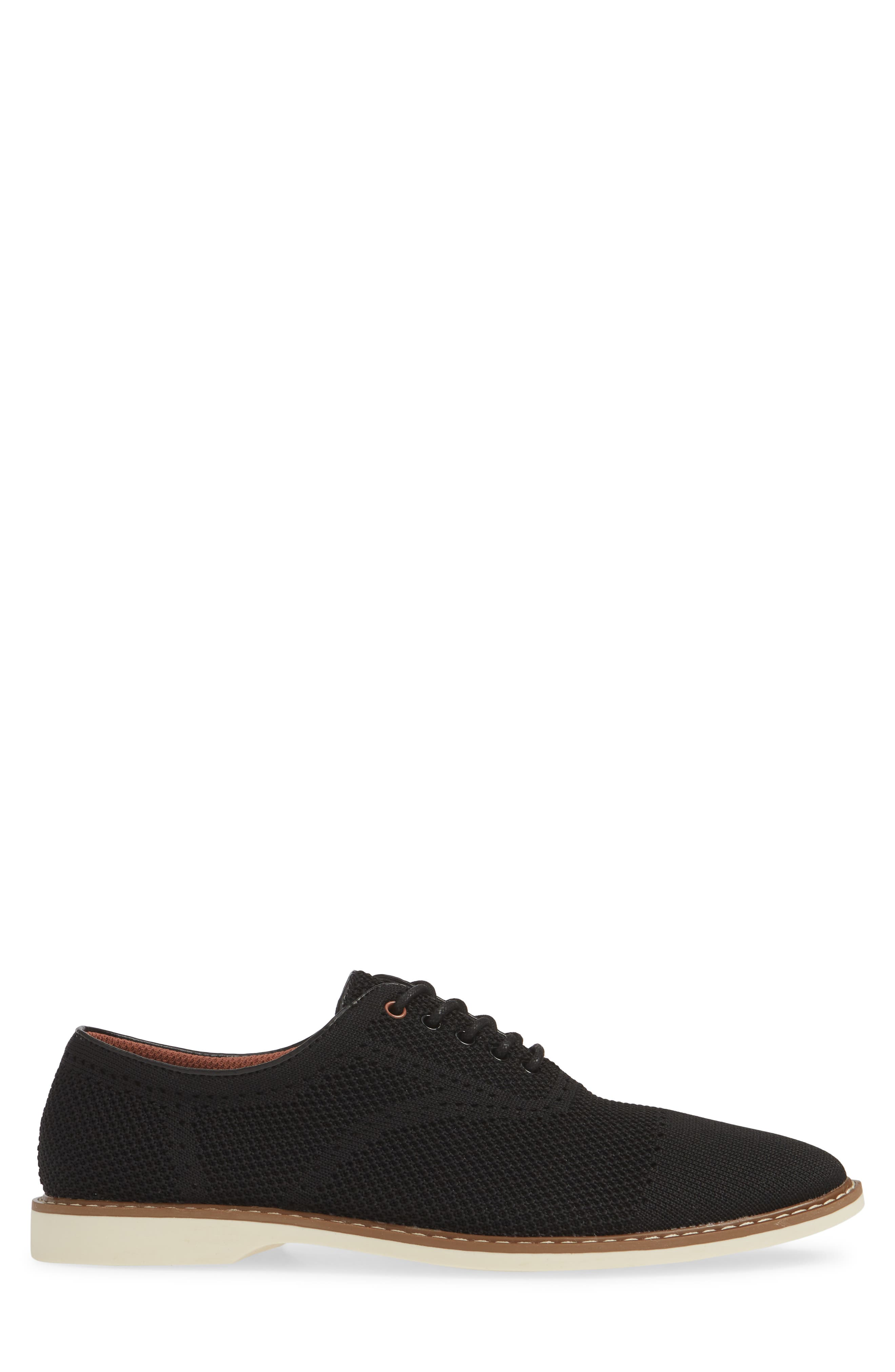 THE RAIL, Jared Plain Toe Oxford, Alternate thumbnail 3, color, BLACK