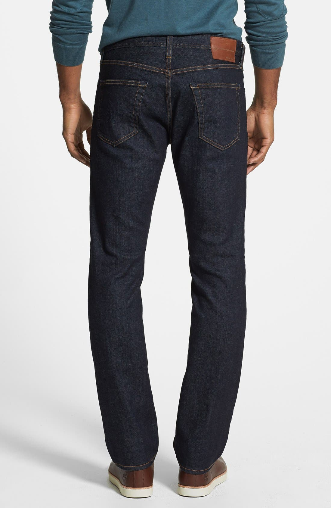 AG, 'Graduate' Slim Straight Leg Jeans, Alternate thumbnail 4, color, JACK