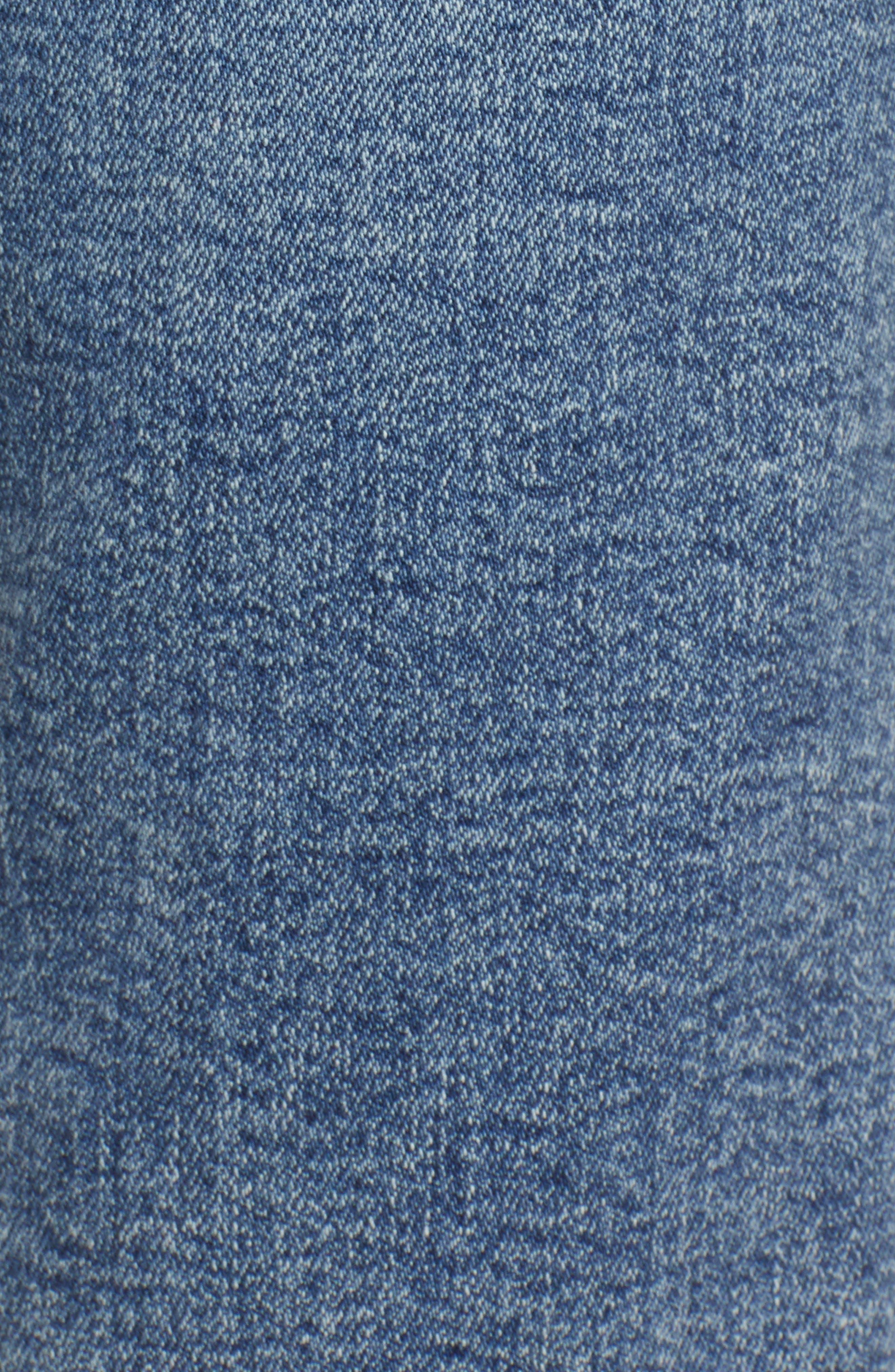 MOTHER, Dazzler High Waist Ankle Straight Leg Jeans, Alternate thumbnail 6, color, 451