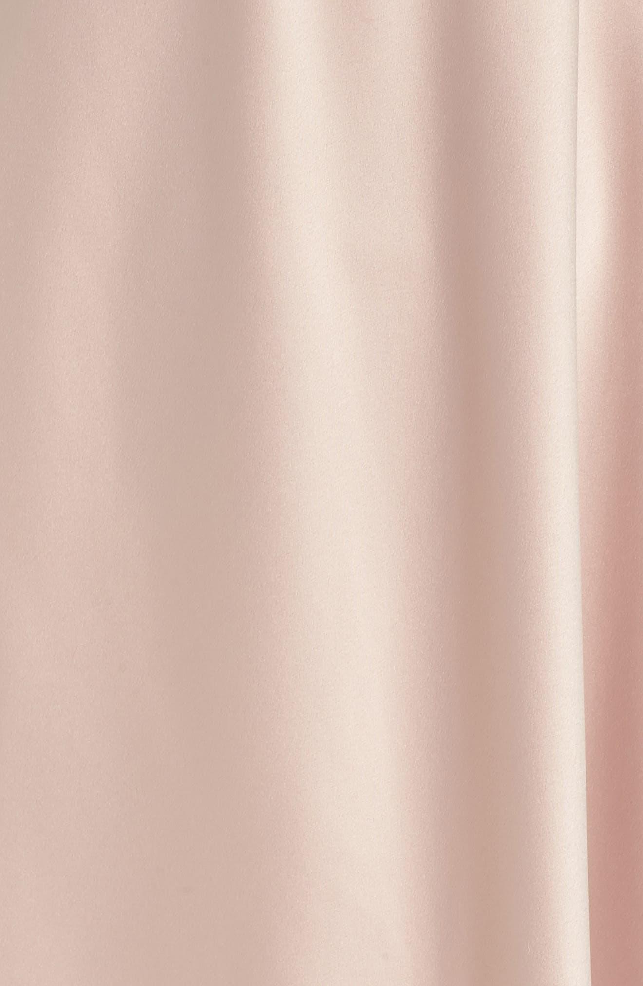 FLORA NIKROOZ, Rosa Charm Chemise, Alternate thumbnail 5, color, SHELL PINK