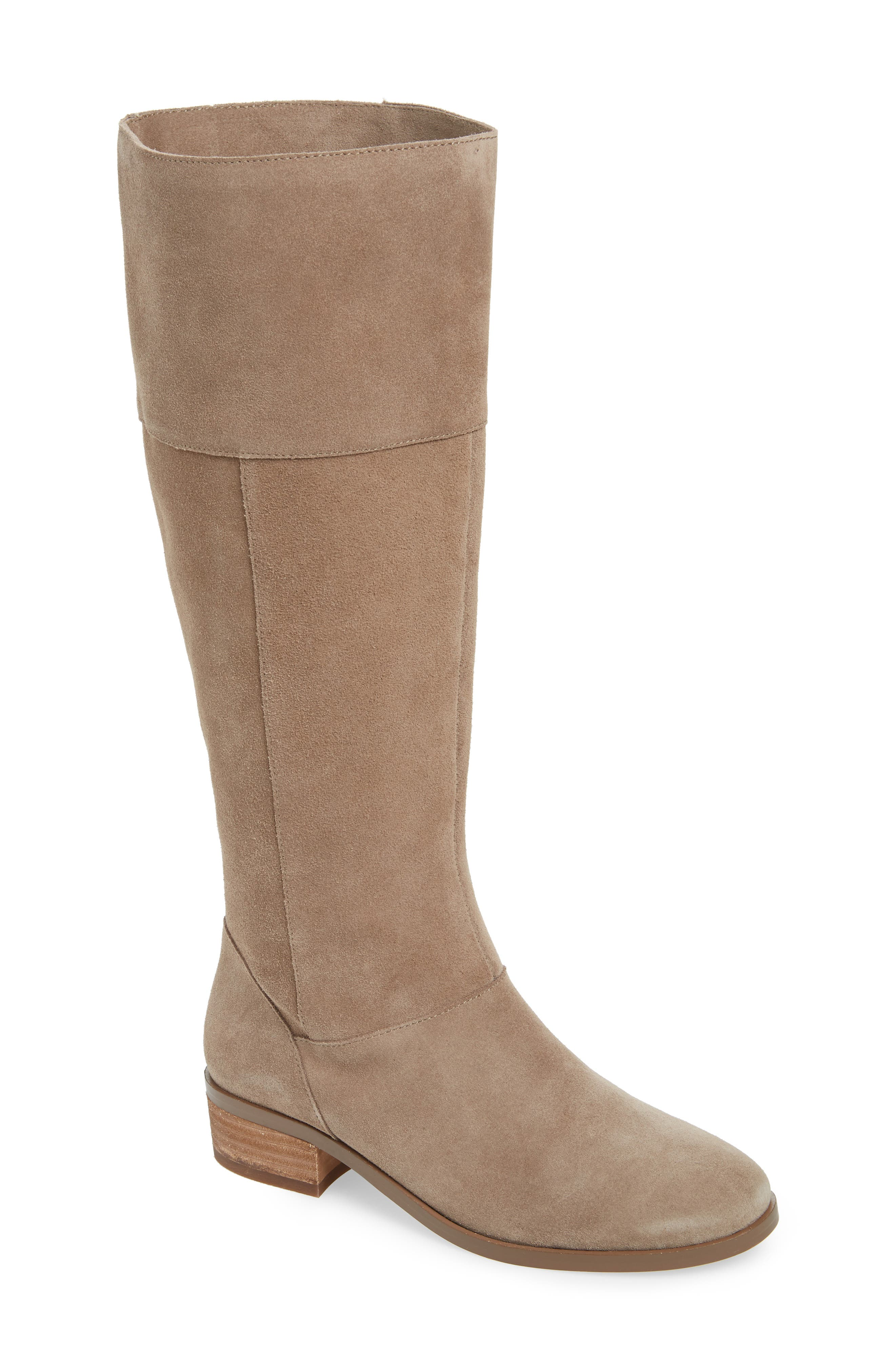 Sole Society Carlie Knee High Boot, Beige