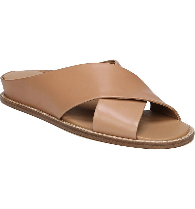 a3bfc54f108 Vince Women s Fairley Leather Slide Sandals In Tan