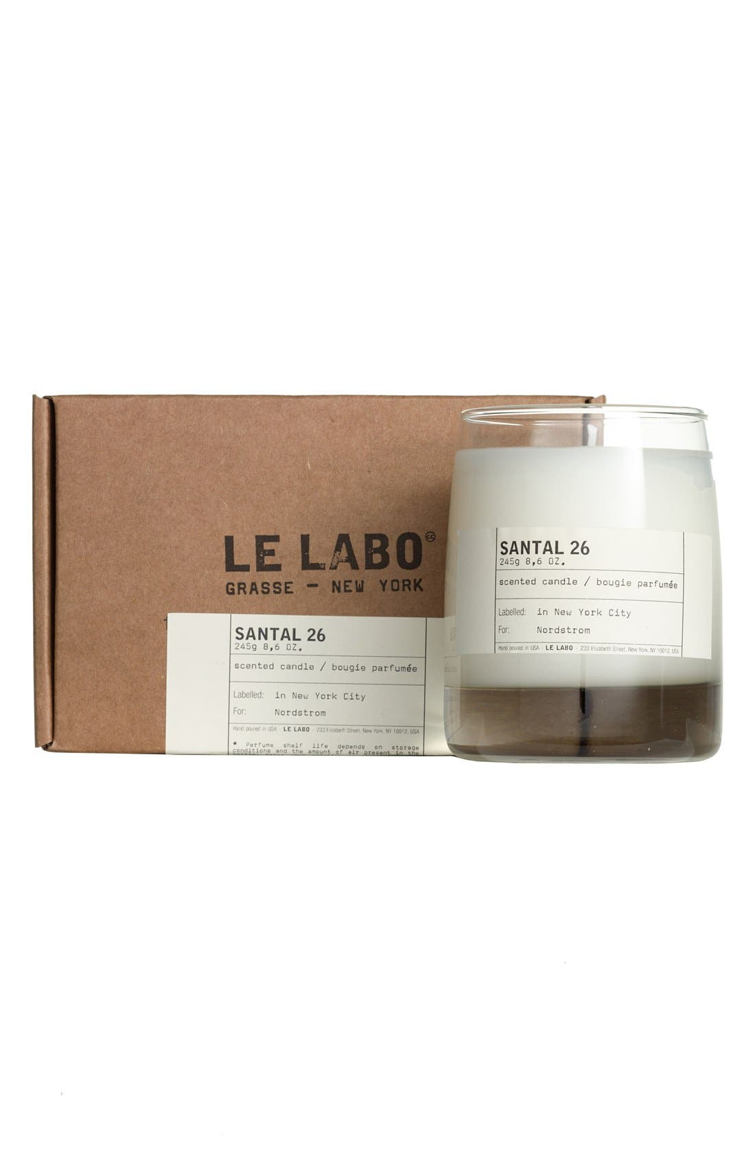 LE LABO, Santal 26 Classic Candle, Alternate thumbnail 4, color, NO COLOR