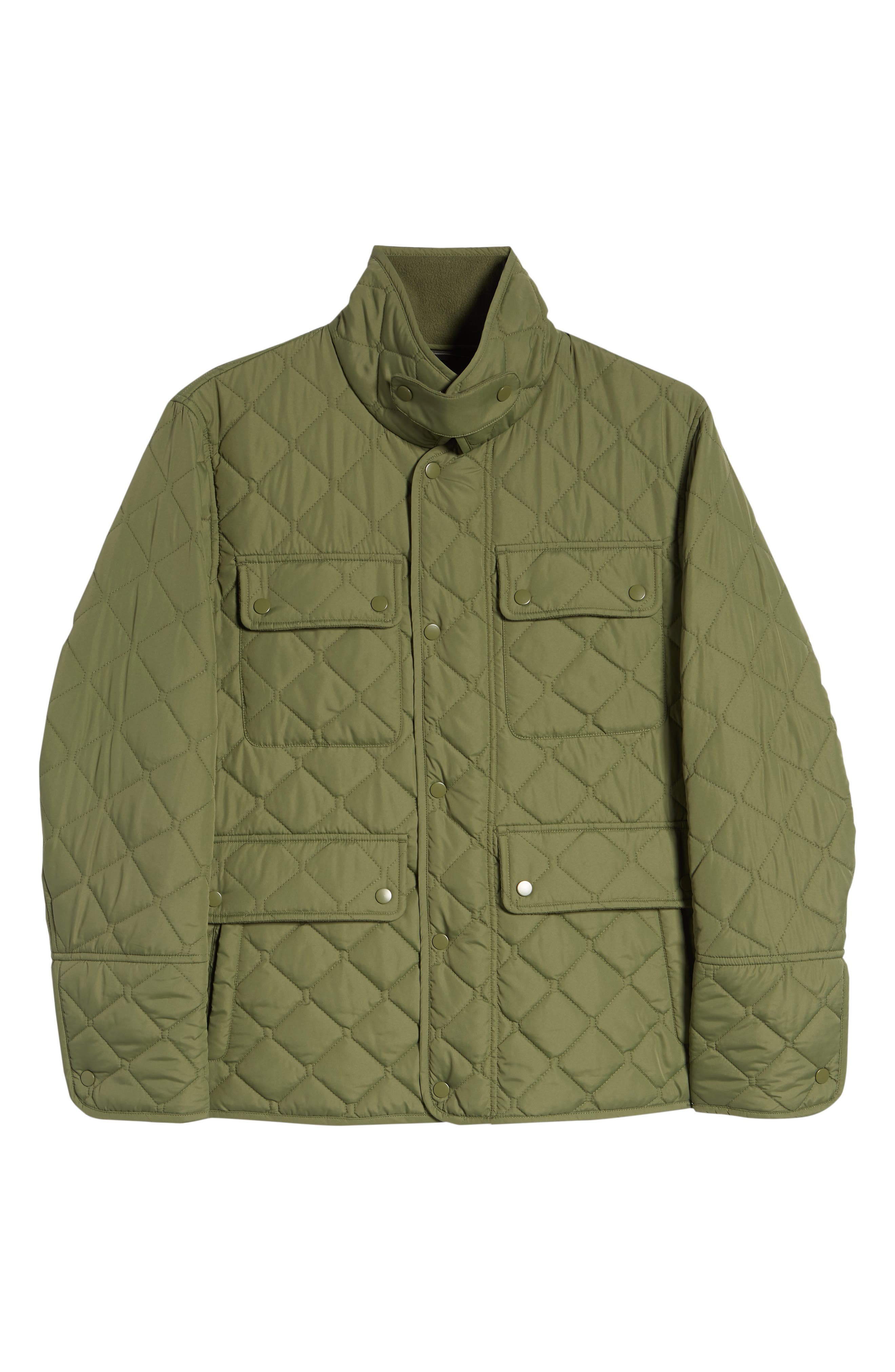 MARC NEW YORK, Canal Quilted Barn Jacket, Alternate thumbnail 6, color, OLIVE