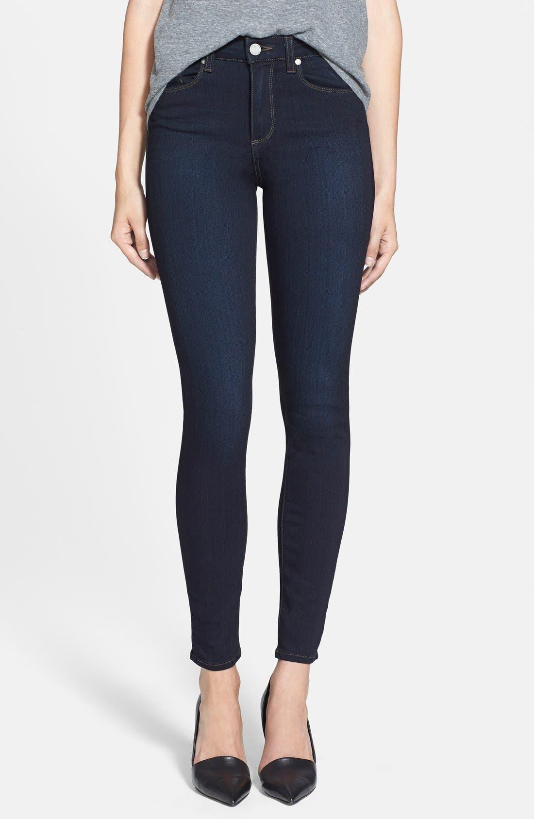 PAIGE, Transcend - Hoxton High Waist Ultra Skinny Jeans, Main thumbnail 1, color, MONA