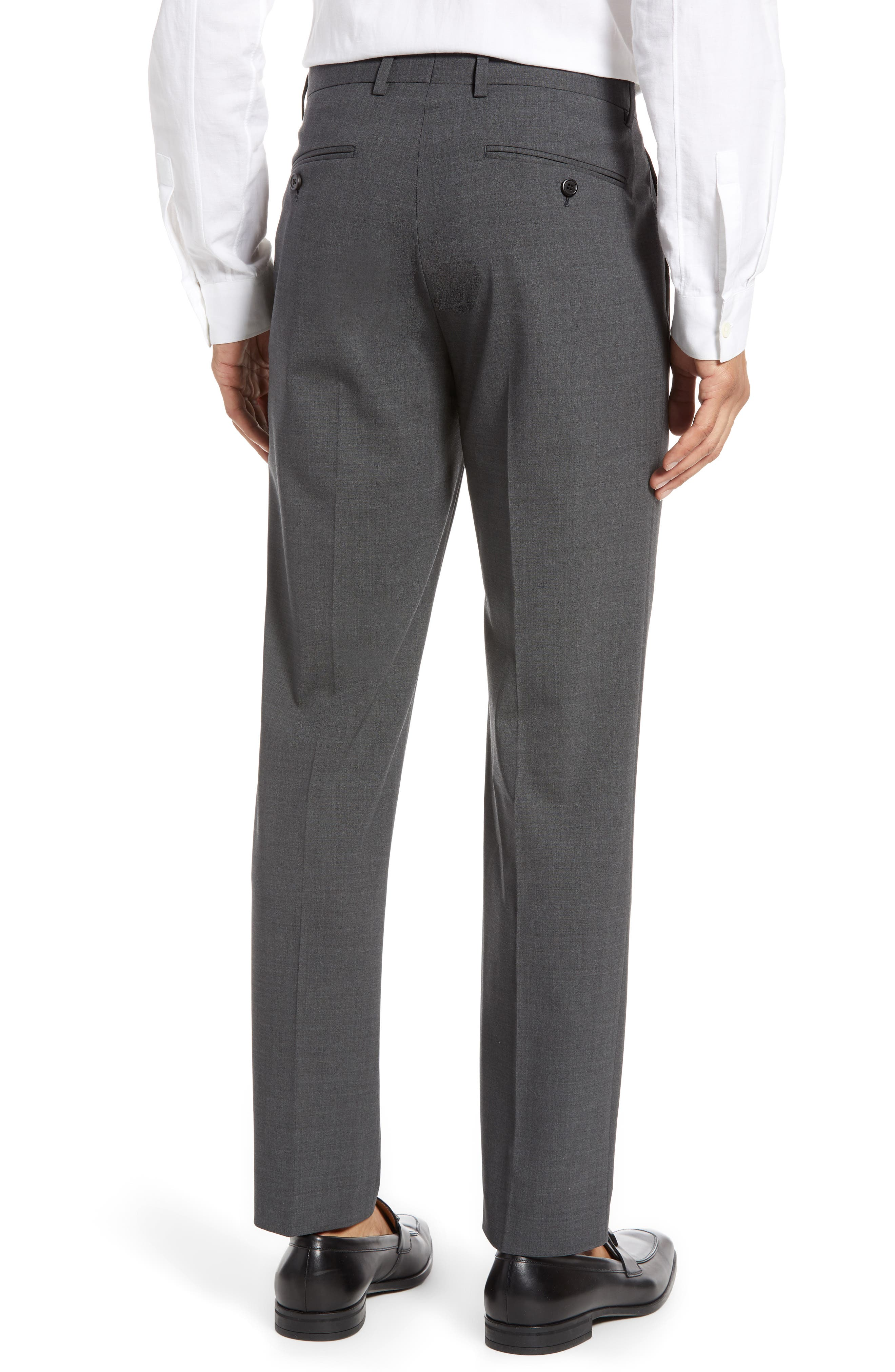 THEORY, Mayer New Tailor 2 Wool Trousers, Alternate thumbnail 2, color, CHARCOAL