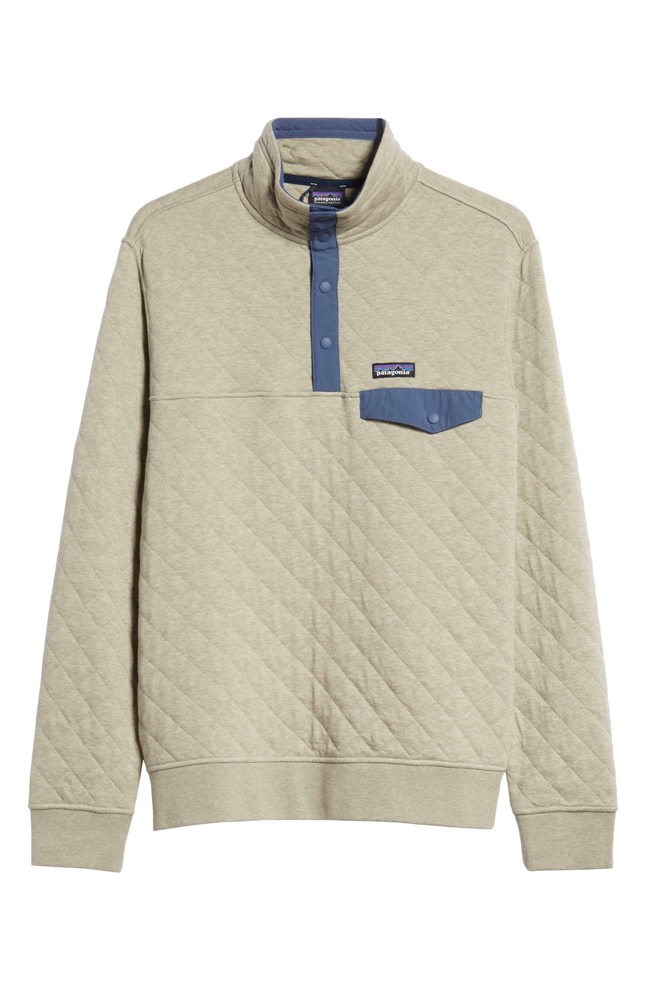 PATAGONIA, Snap-T<sup>®</sup> Quilted Fleece Pullover, Alternate thumbnail 7, color, SHALE