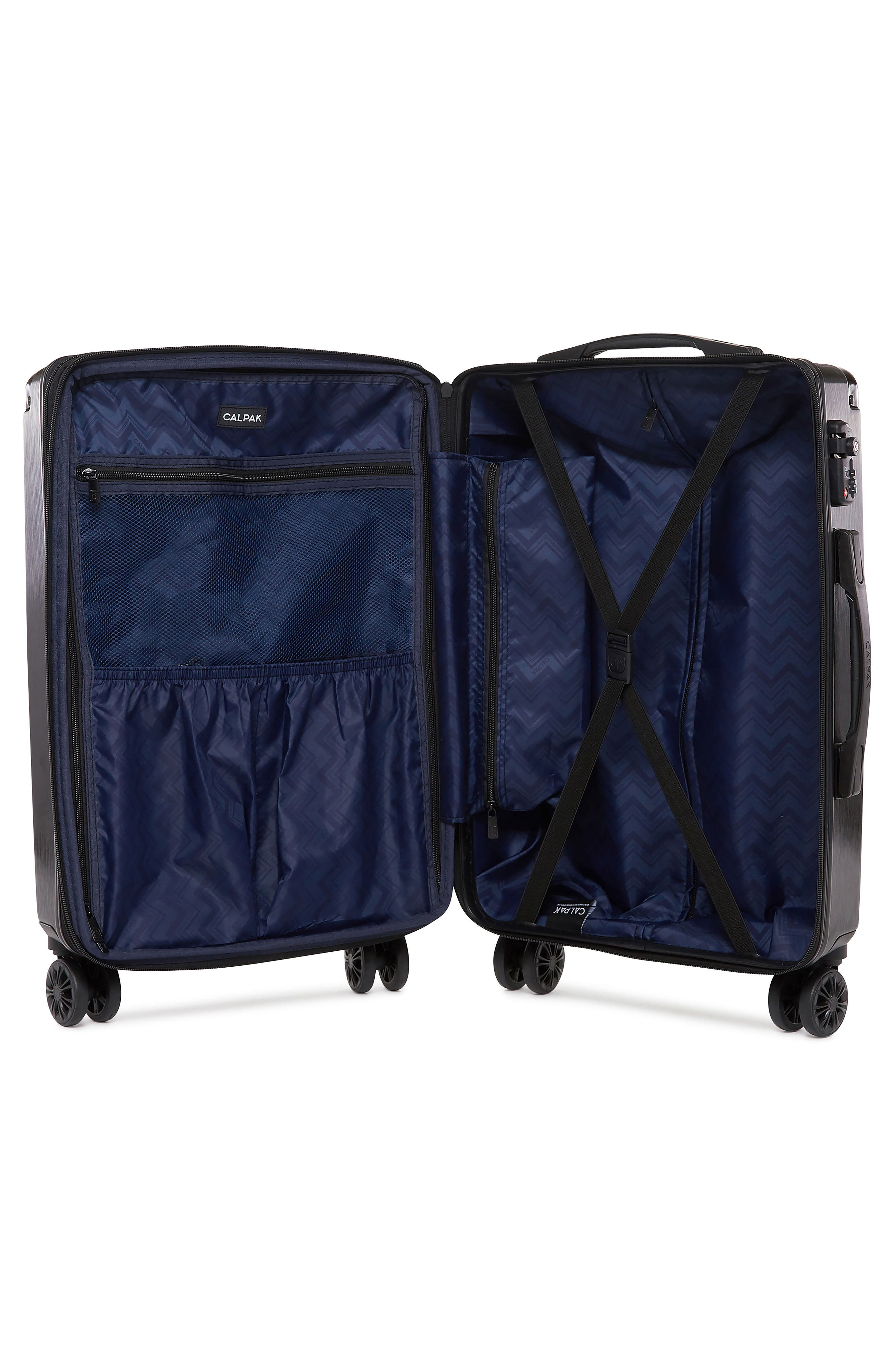CALPAK, Ambeur 22-Inch Rolling Spinner Carry-On, Alternate thumbnail 2, color, BLACK