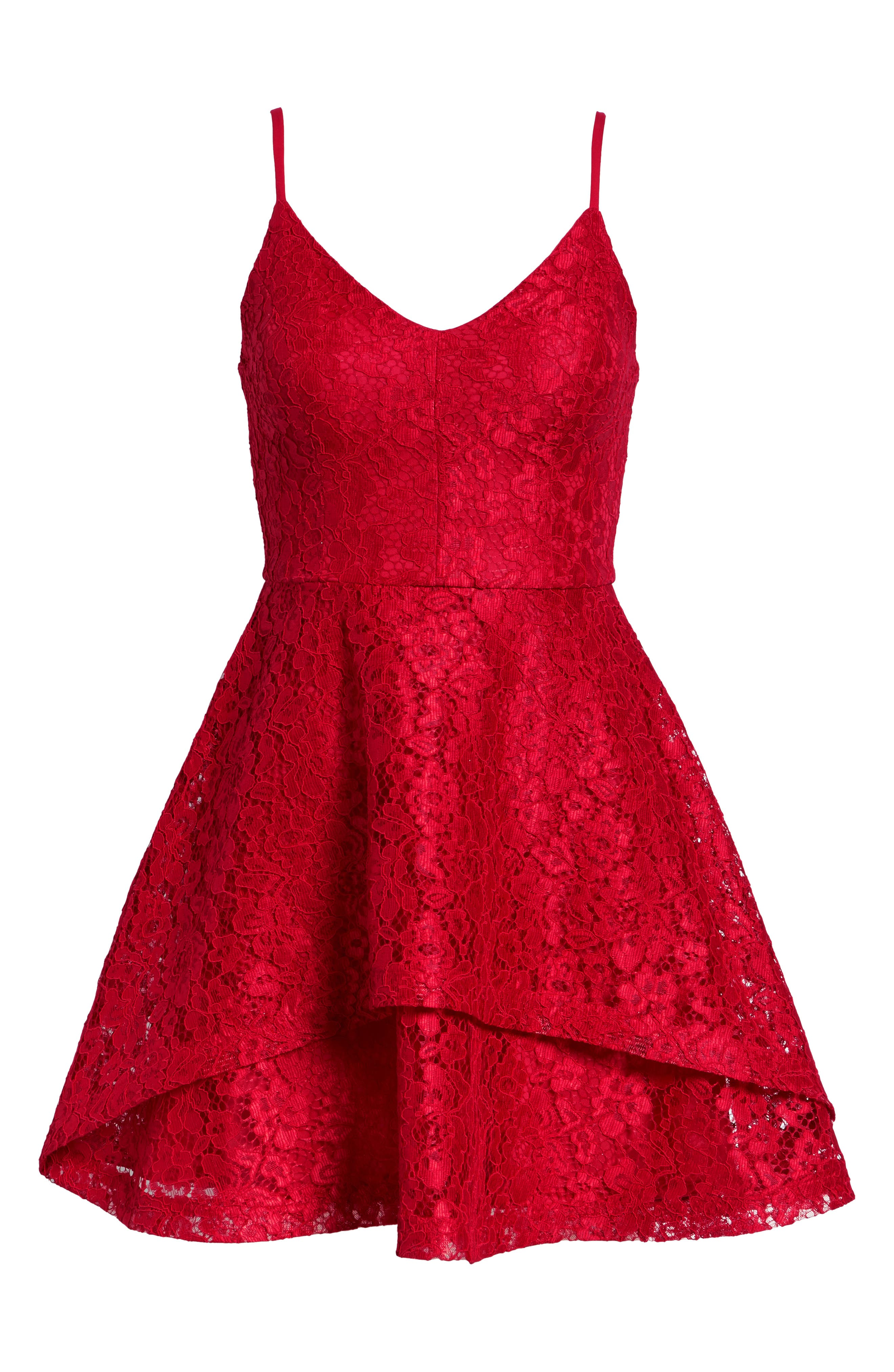 SPEECHLESS, Lace Fit & Flare Dress, Alternate thumbnail 8, color, 600