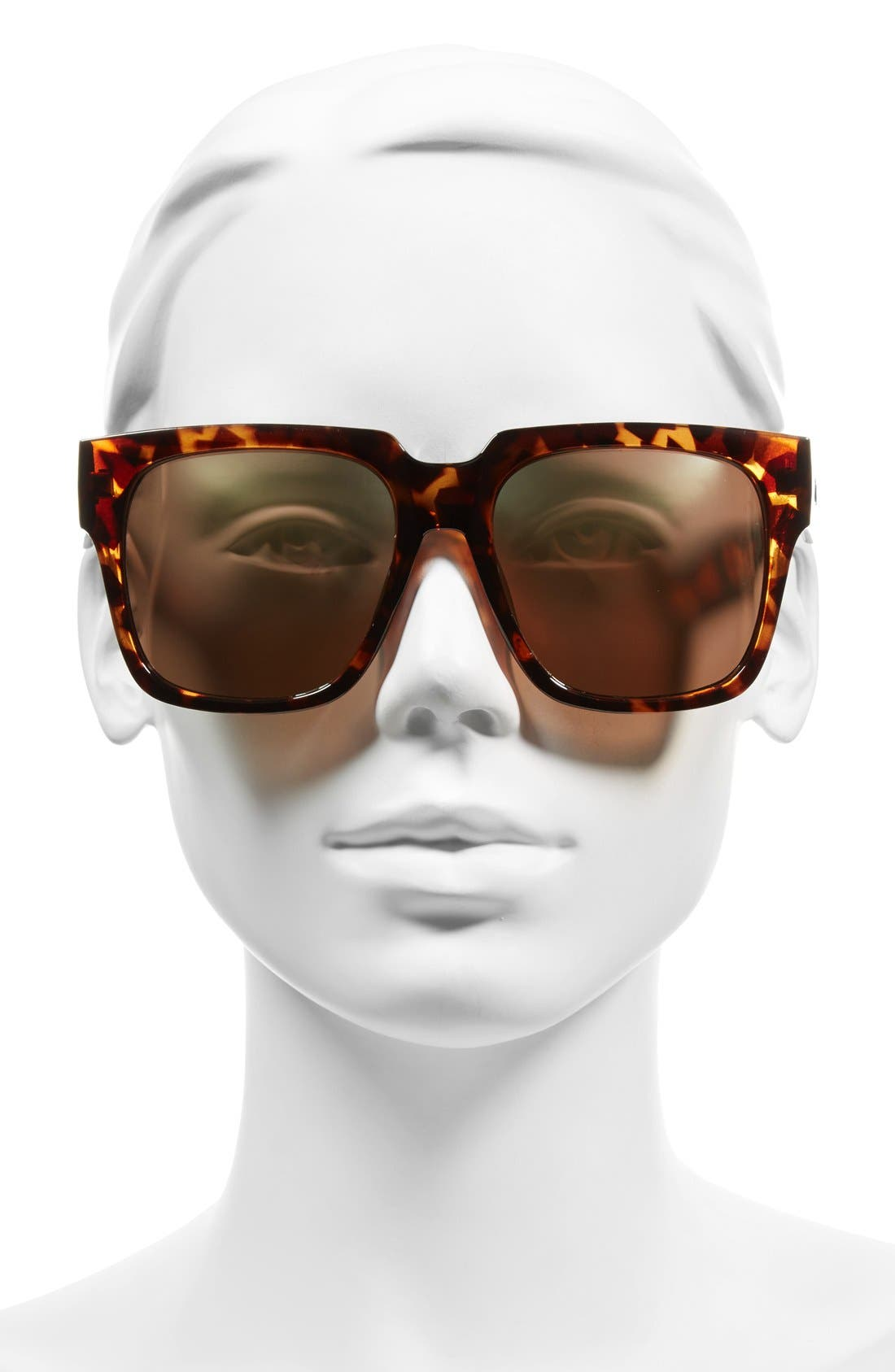 QUAY AUSTRALIA, 'On the Prowl' 55mm Square Sunglasses, Alternate thumbnail 2, color, 210