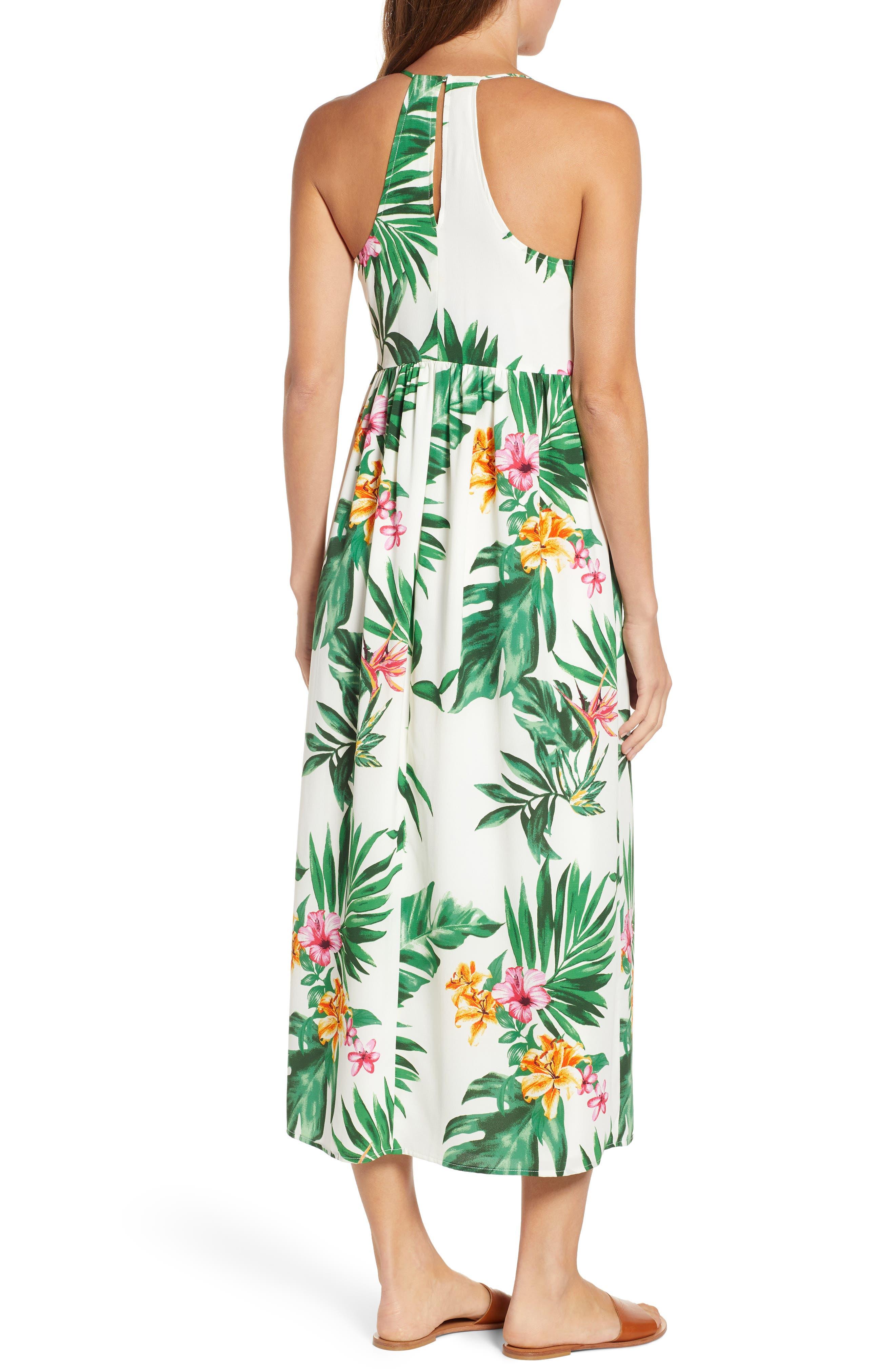 GIBSON, x Hi Sugarplum! Palm Springs Festival Maxi Dress, Alternate thumbnail 2, color, BIRD OF PARADISE