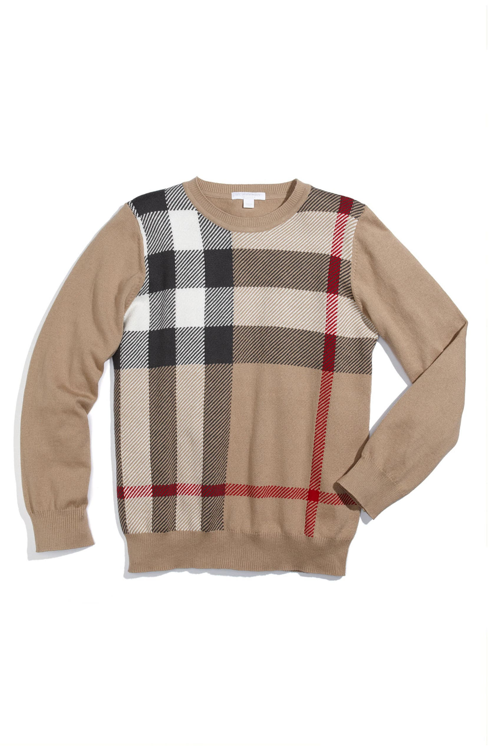 1d25bd70 Burberry Check Print Sweater (Big Boys) | Nordstrom