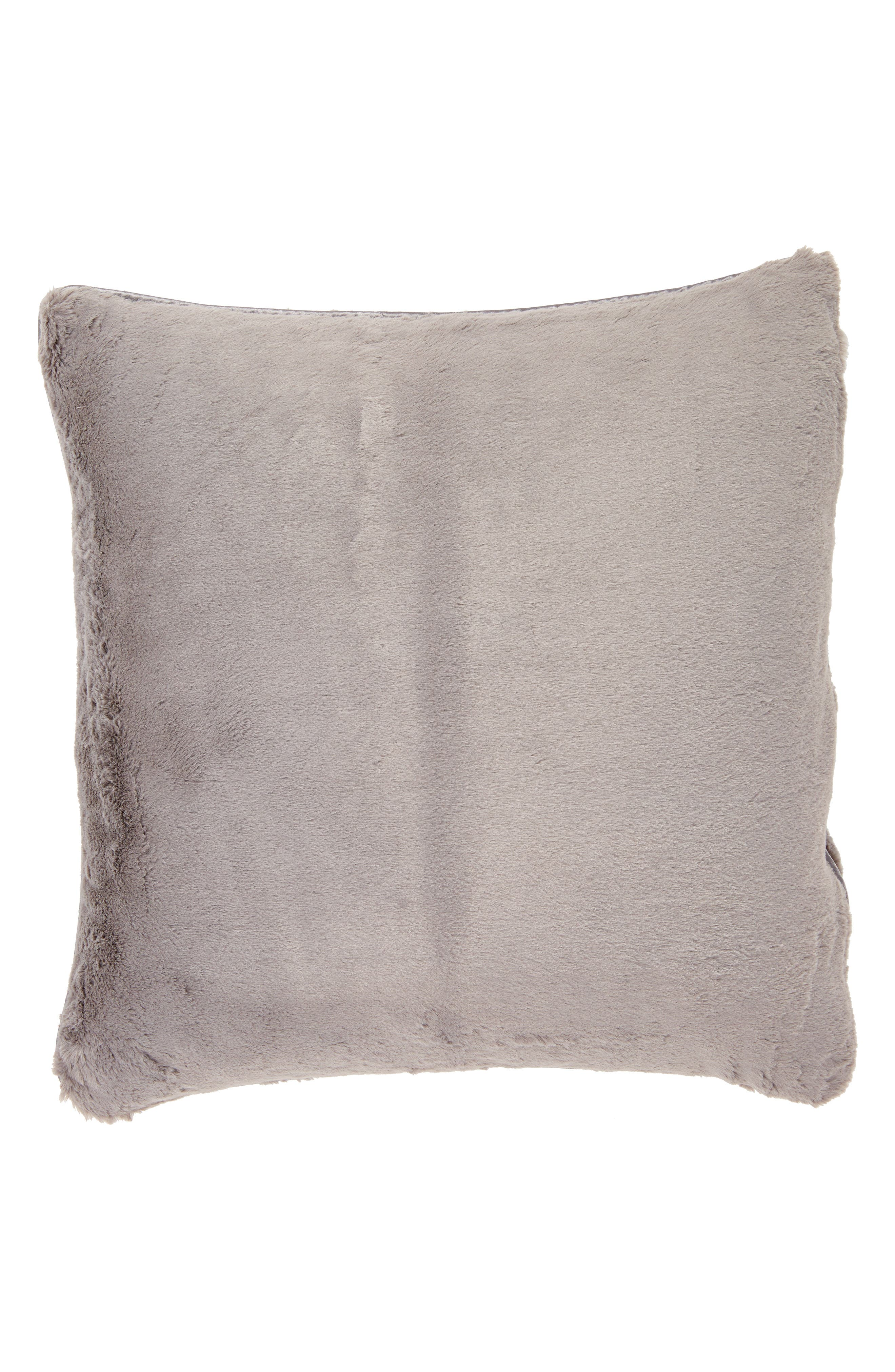 GIRAFFE AT HOME, 'Luxe' Throw Pillow, Alternate thumbnail 2, color, CHARCOAL