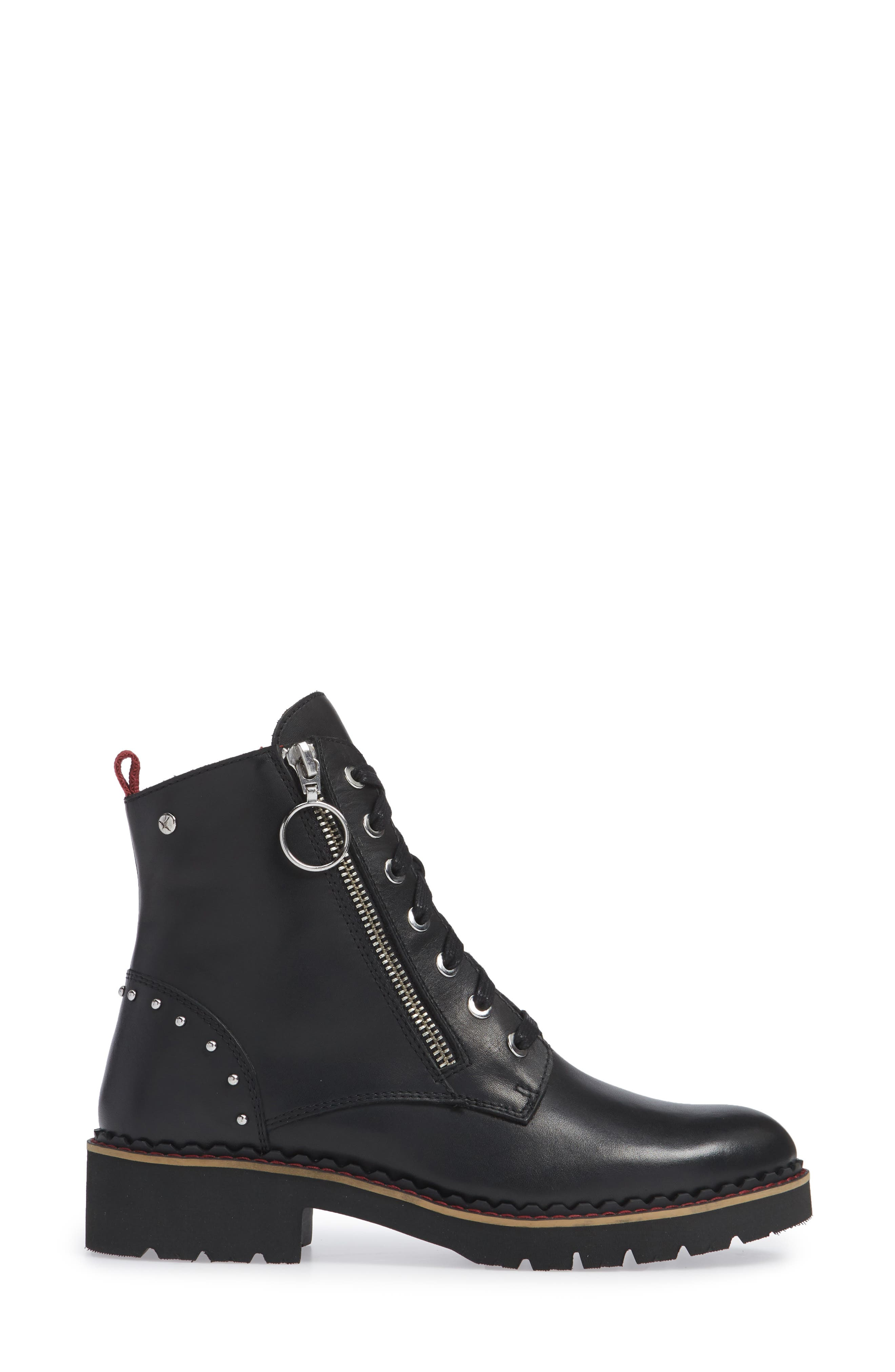PIKOLINOS, Vicar Boot, Alternate thumbnail 3, color, BLACK LEATHER