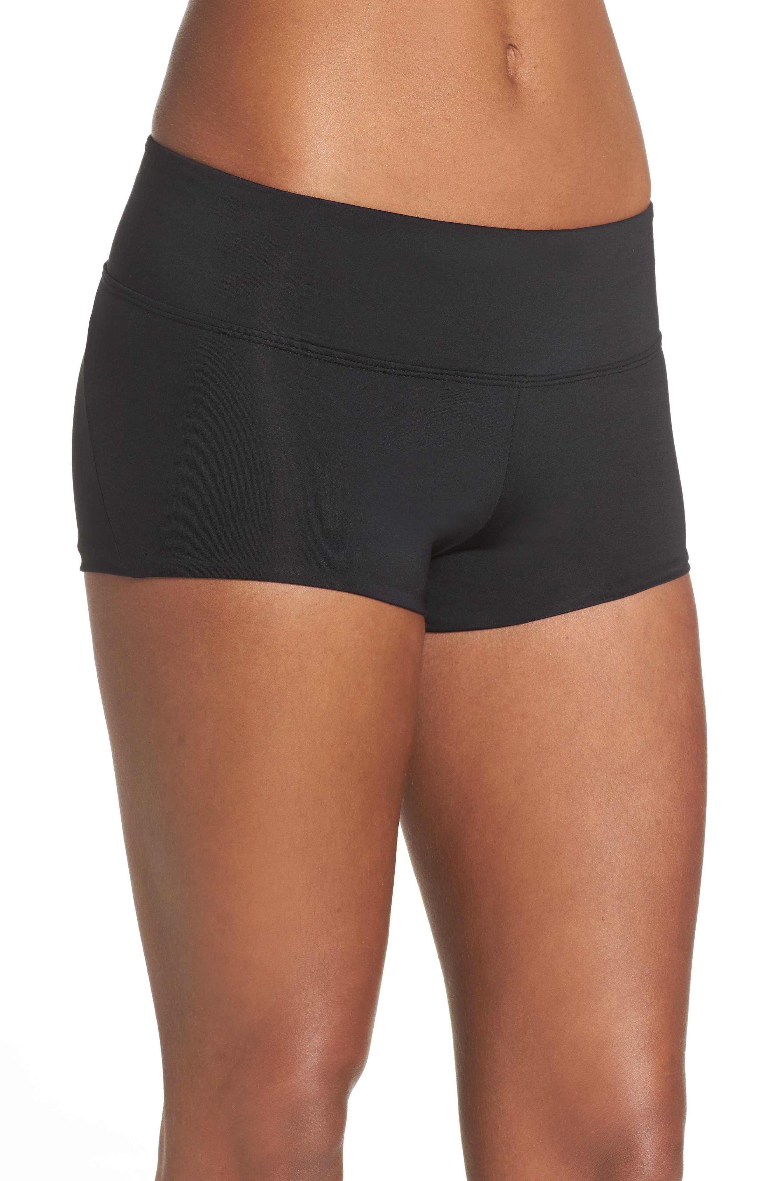 NIKE, Kick Swim Shorts, Alternate thumbnail 4, color, BLACK
