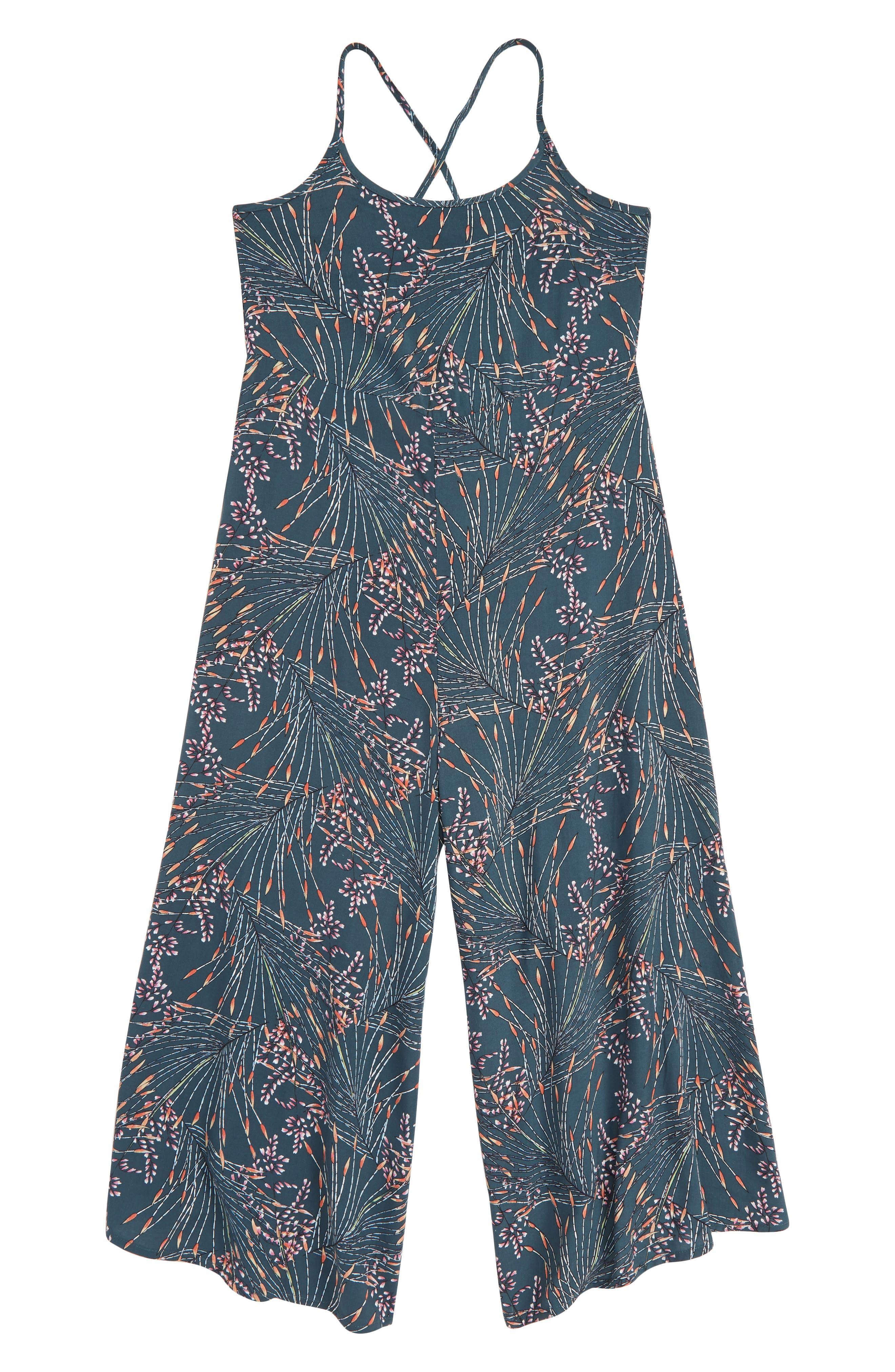 Girls ONeill Dayton Woven Jumpsuit Size L (1214)  Blue