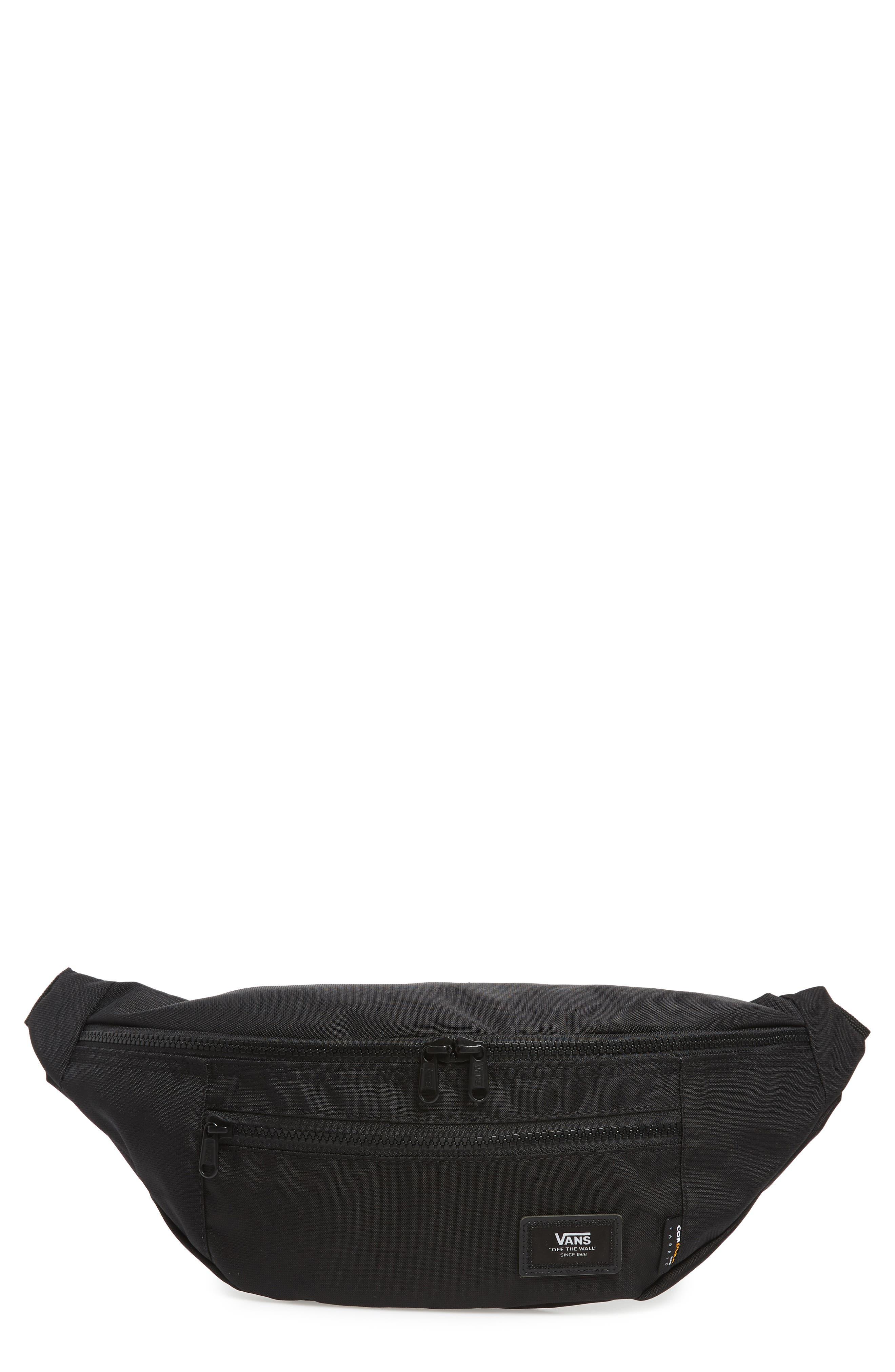 VANS, Ward Water Repellent Waist Pack, Main thumbnail 1, color, BLACK